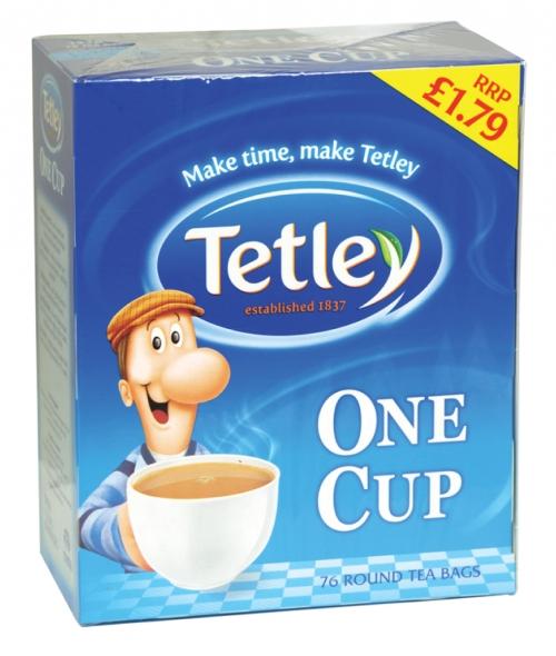 TETLEY ONE CUP 72 ROUND TEA BAGS PM 1.79 X12