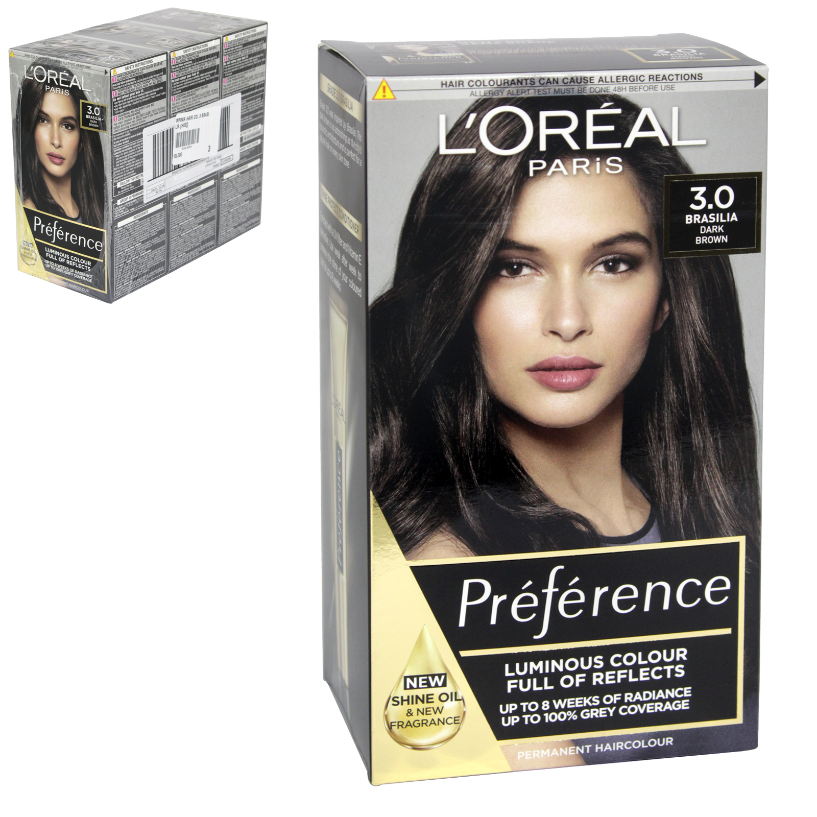 INFINIA PREFRENCE HAIR COLOUR 3 BRASILIA X3