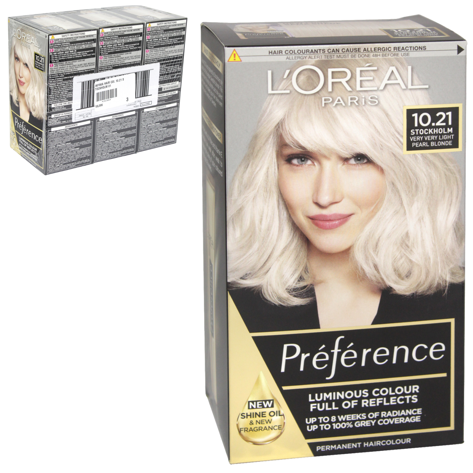 INFINIA PREFERENCE HAIR COLOUR 10.21 STOCKHOLM X3