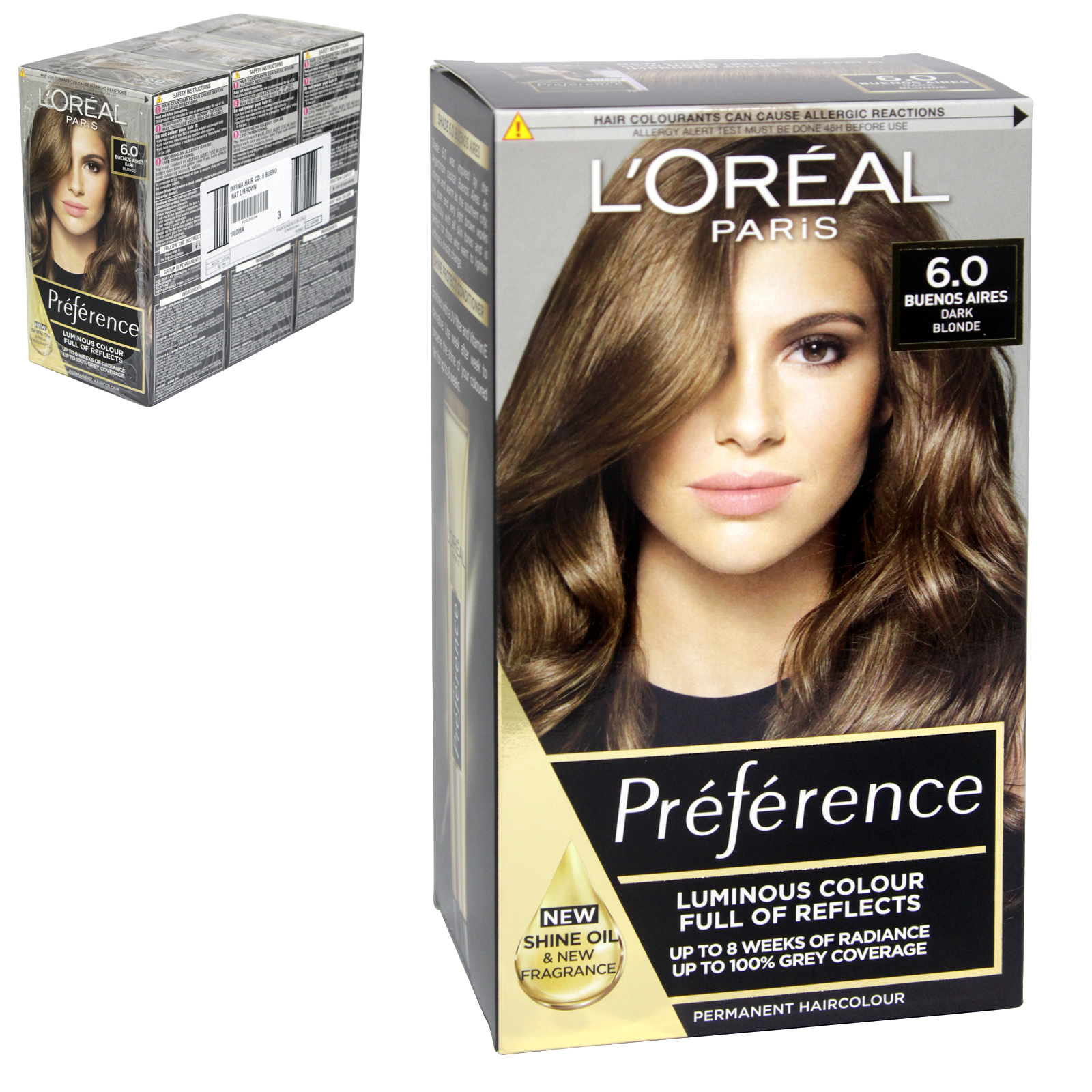 INFINIA PREFRENCE HAIR COLOUR 6 BUENOS AIRES NATURAL LIGHT BROWN X3