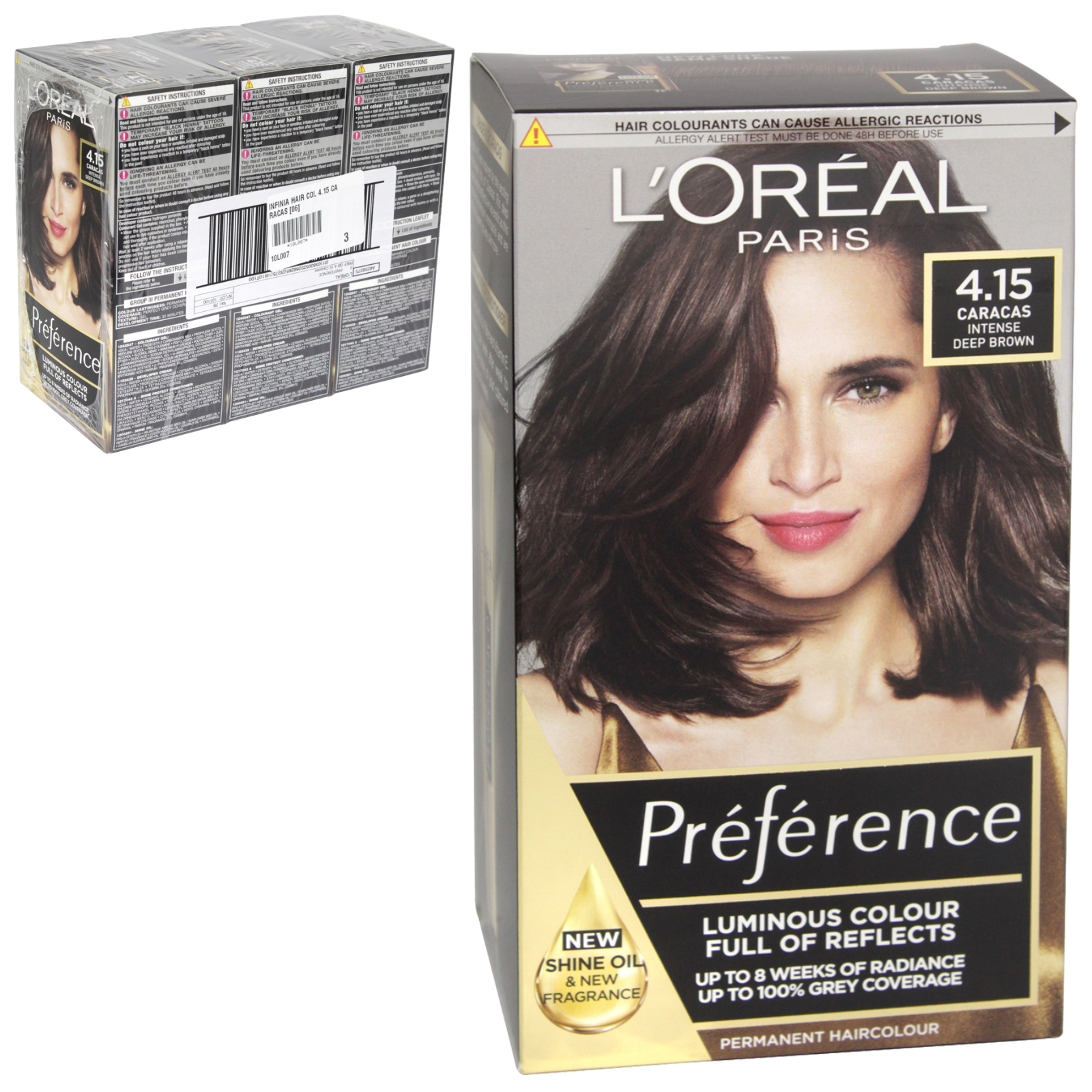 INFINIA PREFRENCE HAIR COLOUR 4.15 CARACAS X3