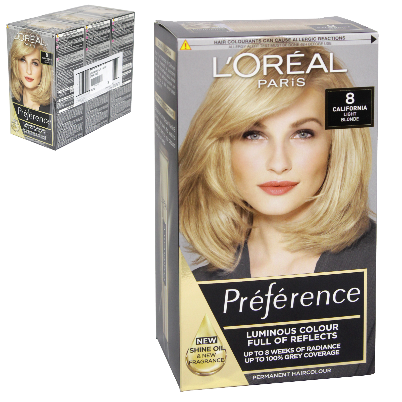 INFINIA PREFERENCE HAIR COLOUR 8 CALIFORNIA X3