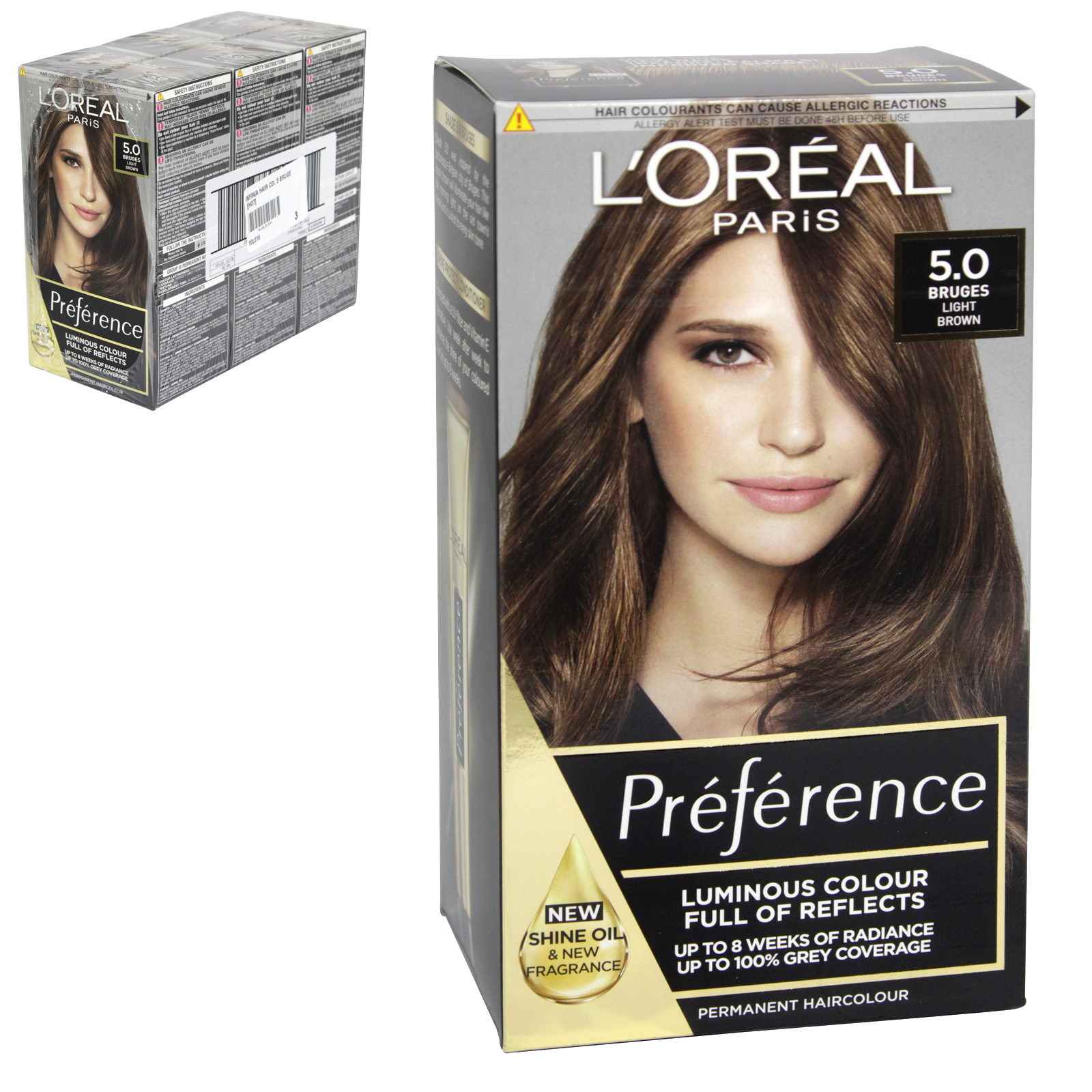 INFINIA PREFERENCE HAIR COLOUR 5 BRUGE X3