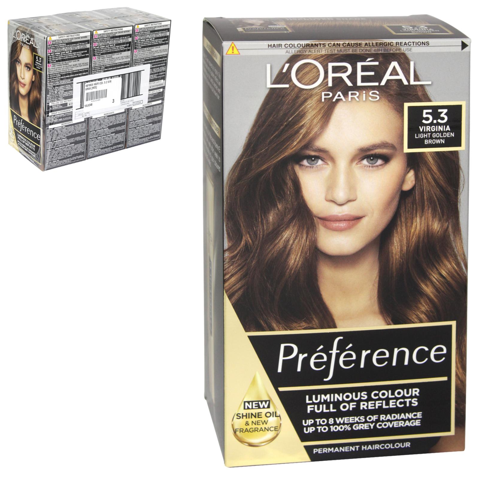 INFINIA PREFERENCE HAIR COLOUR 5.3 VIRGINIA X3