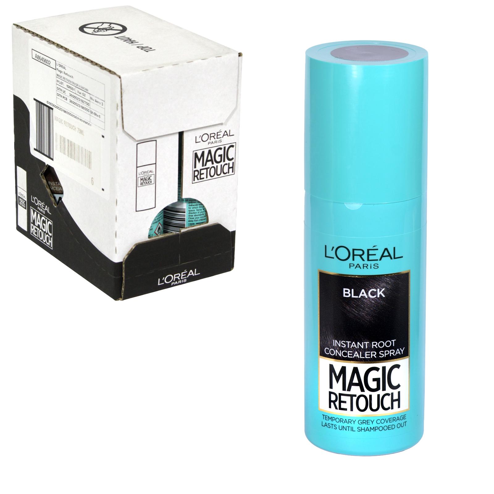 MAGIC RETOUCH 75ML SPRAY 1 BLACK X6