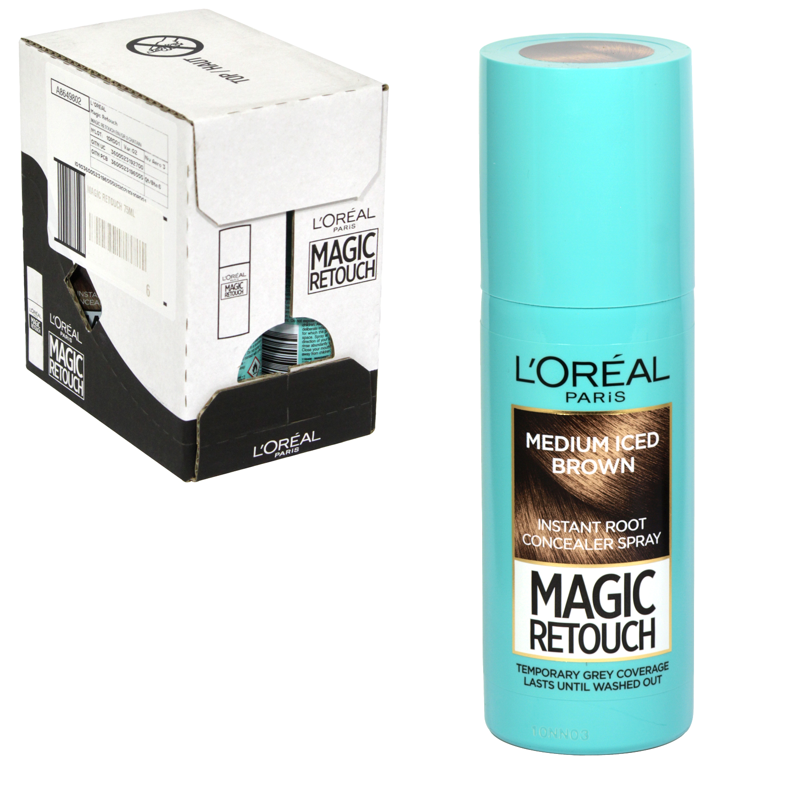 MAGIC RETOUCH 75ML SPRAY 8 MEDIUM ICED BROWN X6