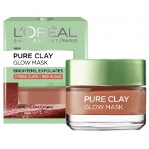LOREAL PURE CLAY GLOW MASK BRIGHTENS AND EXFOLIATES