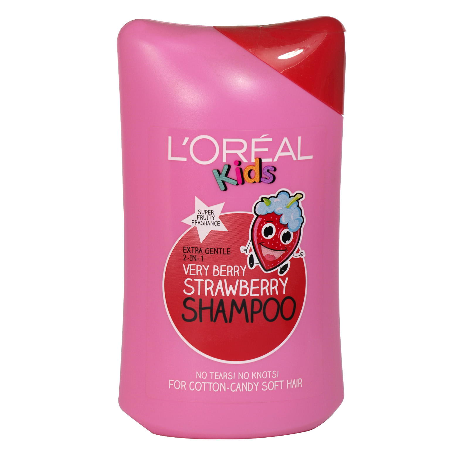 LOREAL KIDS SHAMPOO 250ML VERY BERRY STRAWBERRY 2 IN 1 X6
