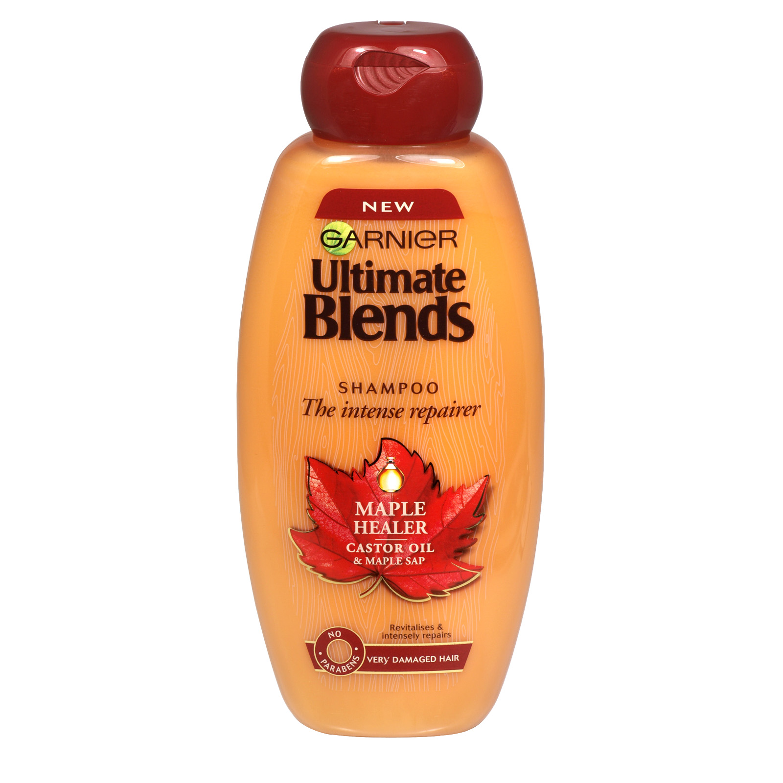 GARNIER ULTIMATE BLENDS 400ML SHAMPOO MAPLE HEALER X6