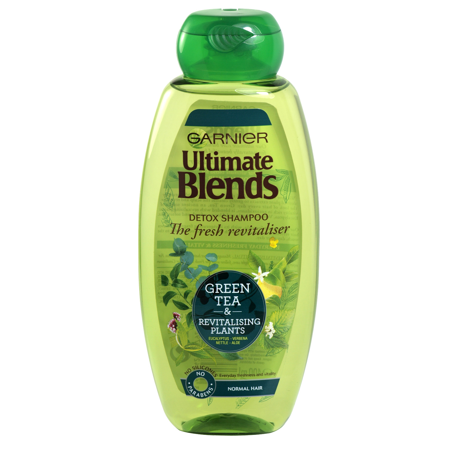 GARNIER ULTIMATE BLENDS 400ML S/POO PLANTS- SHINE REVITALISER X6