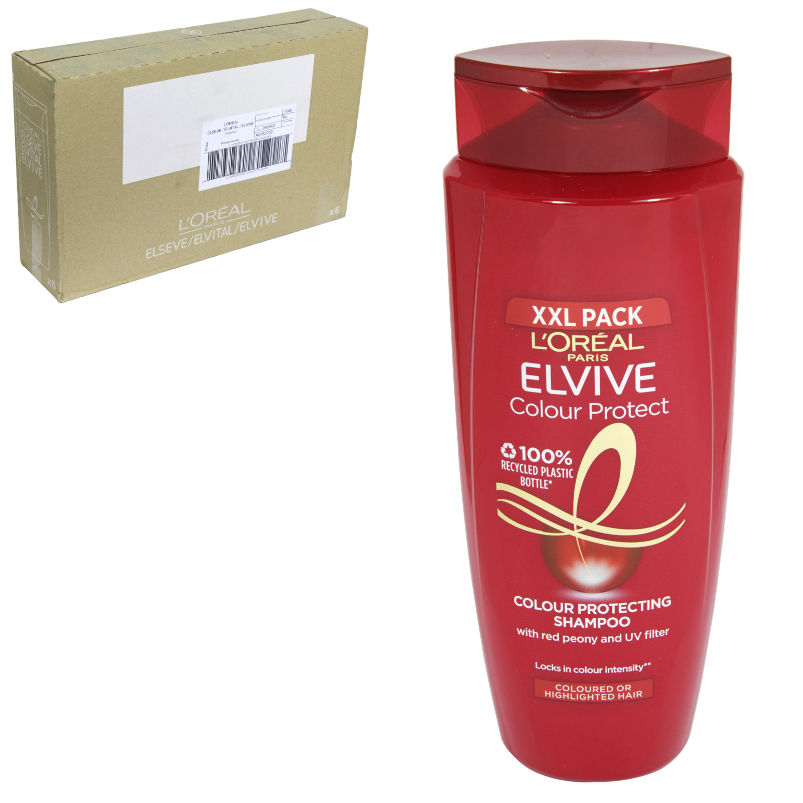 ELVIVE COLOUR PROTECT 700ML SHAMPOO COLOURED HAIR XXL PACK X6