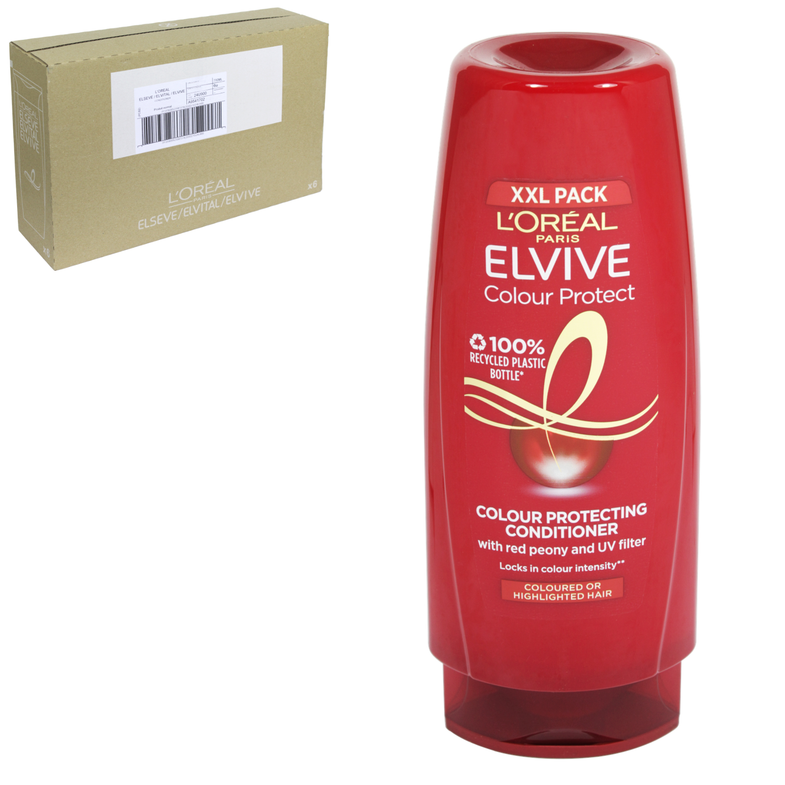 ELVIVE COLOUR PROTECT 700ML CONDITIONER COLOURED HAIR XXL PACK X6