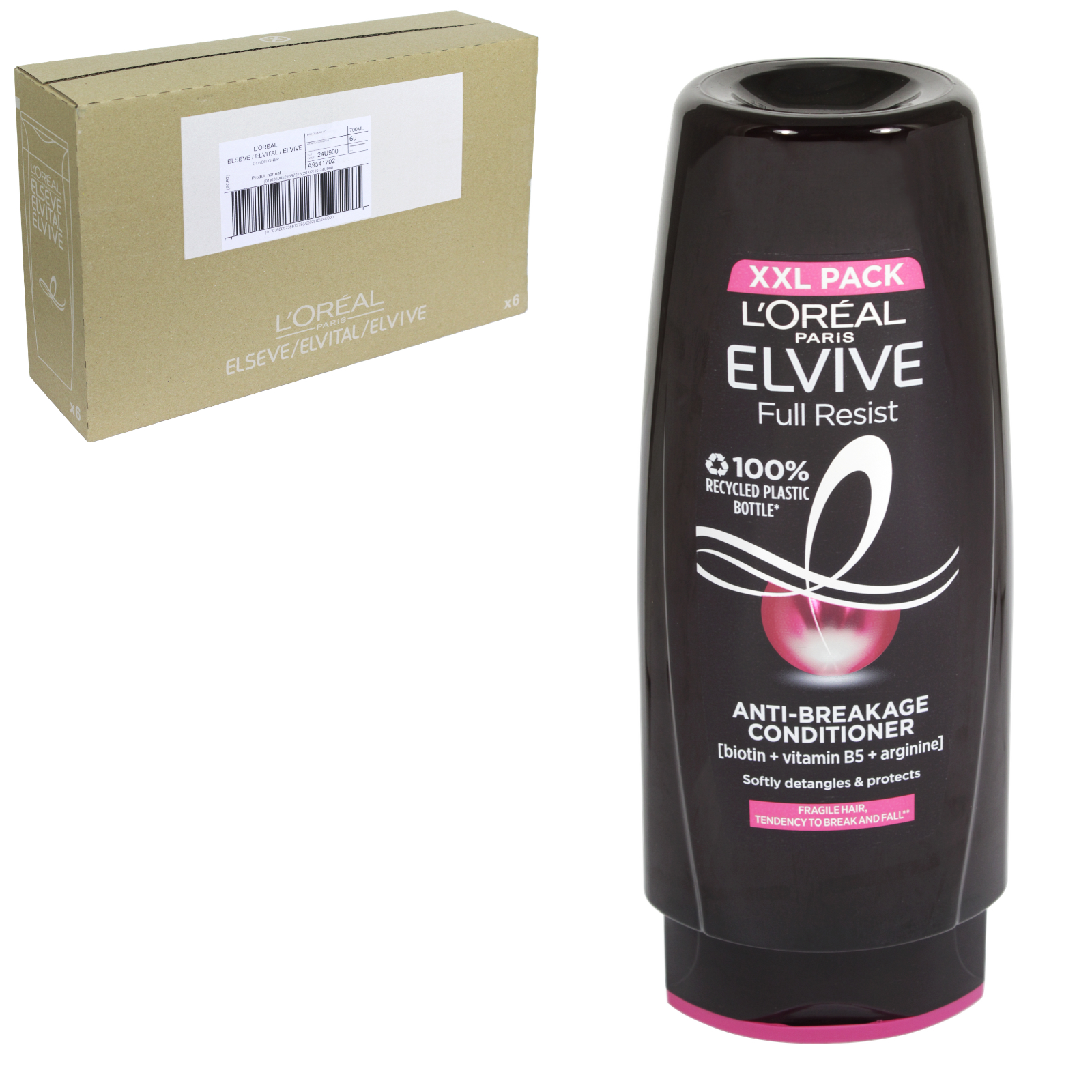 ELVIVE TRIPLE RESIST PROTECT CONDITIONER 700ML LONG FRAGILE HAIR XXL PACK  X6