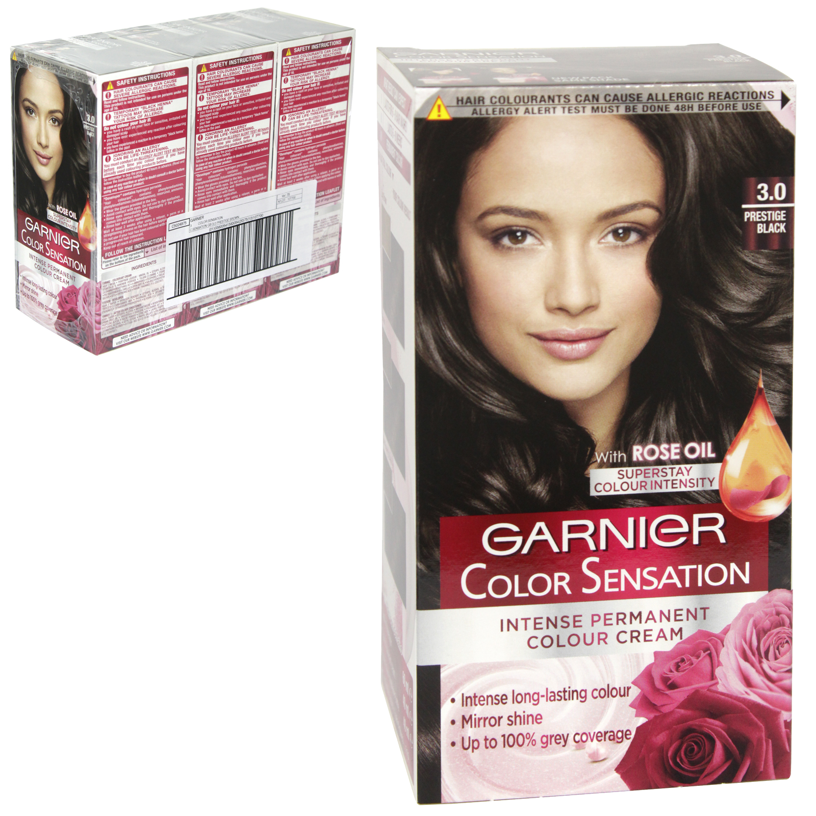 GARNIER HAIR COLOUR - PRESTIGE BLACK 3.0 - X3