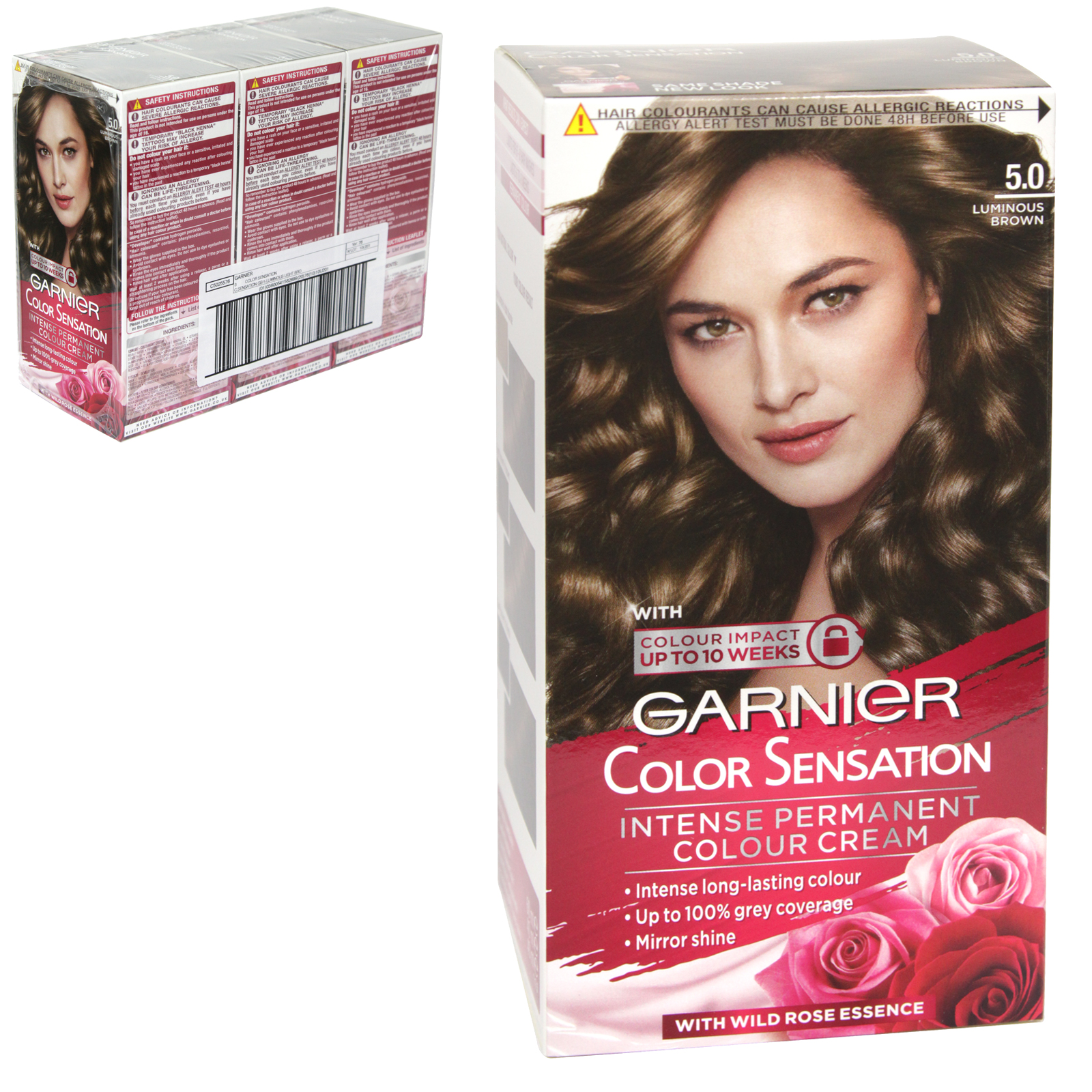 GARNIER HAIR COLOUR- LUMINOUS BROWN 5 - X3