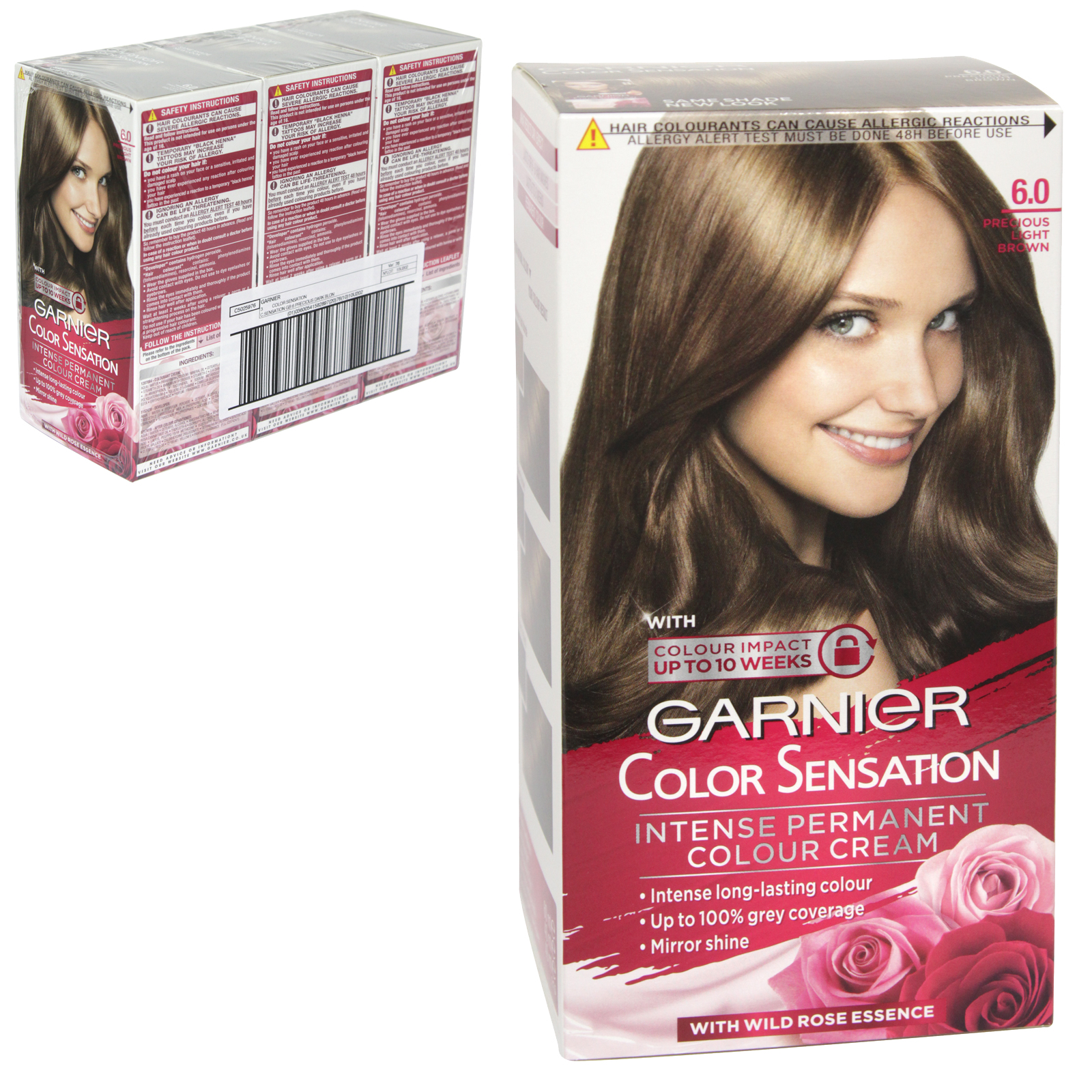 GARNIER HAIR COLOURR - PRECIOUS LIGHT BROWN 6