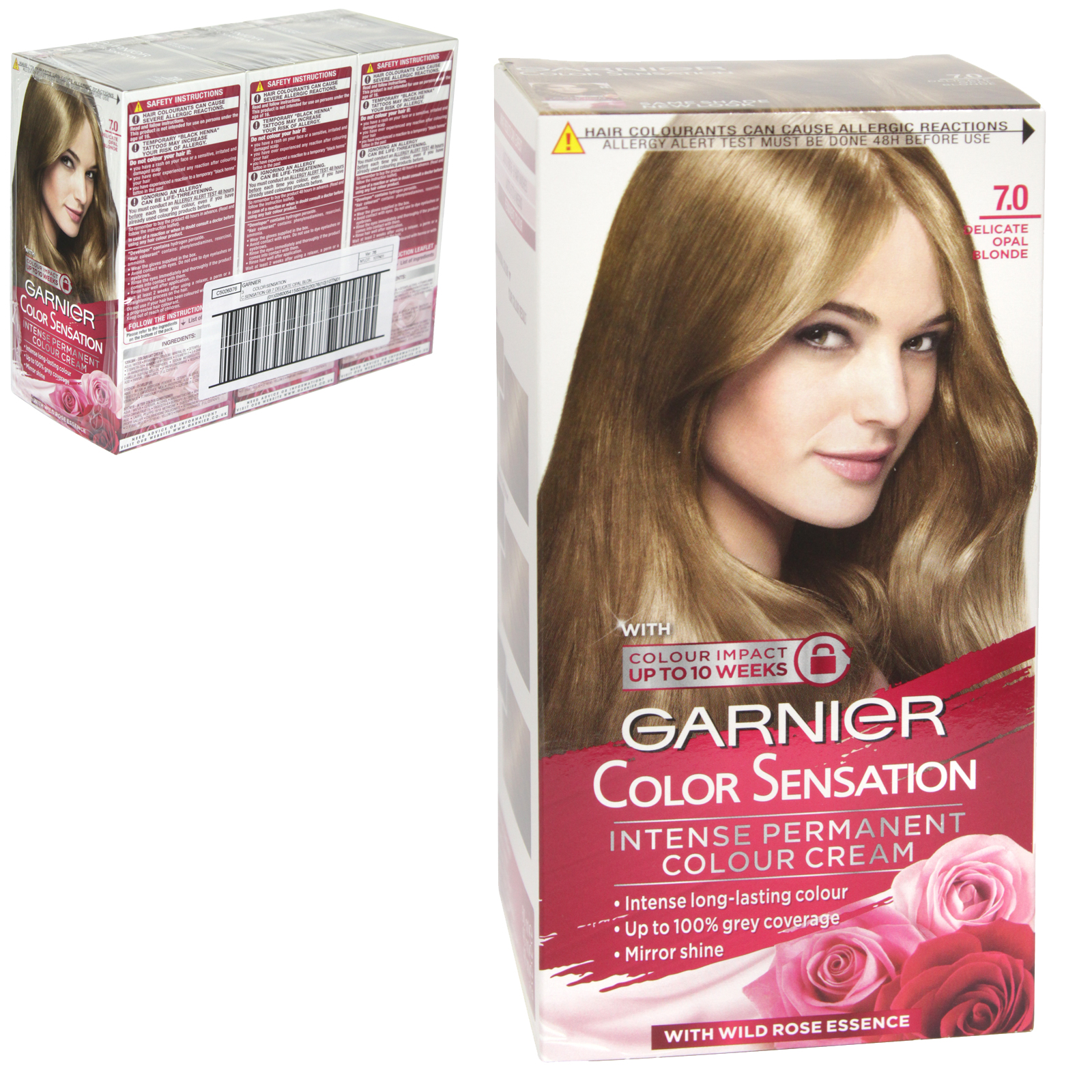 GARNIER HAIR COLOUR - DELICATE OPAL BLONDE 7 - X3