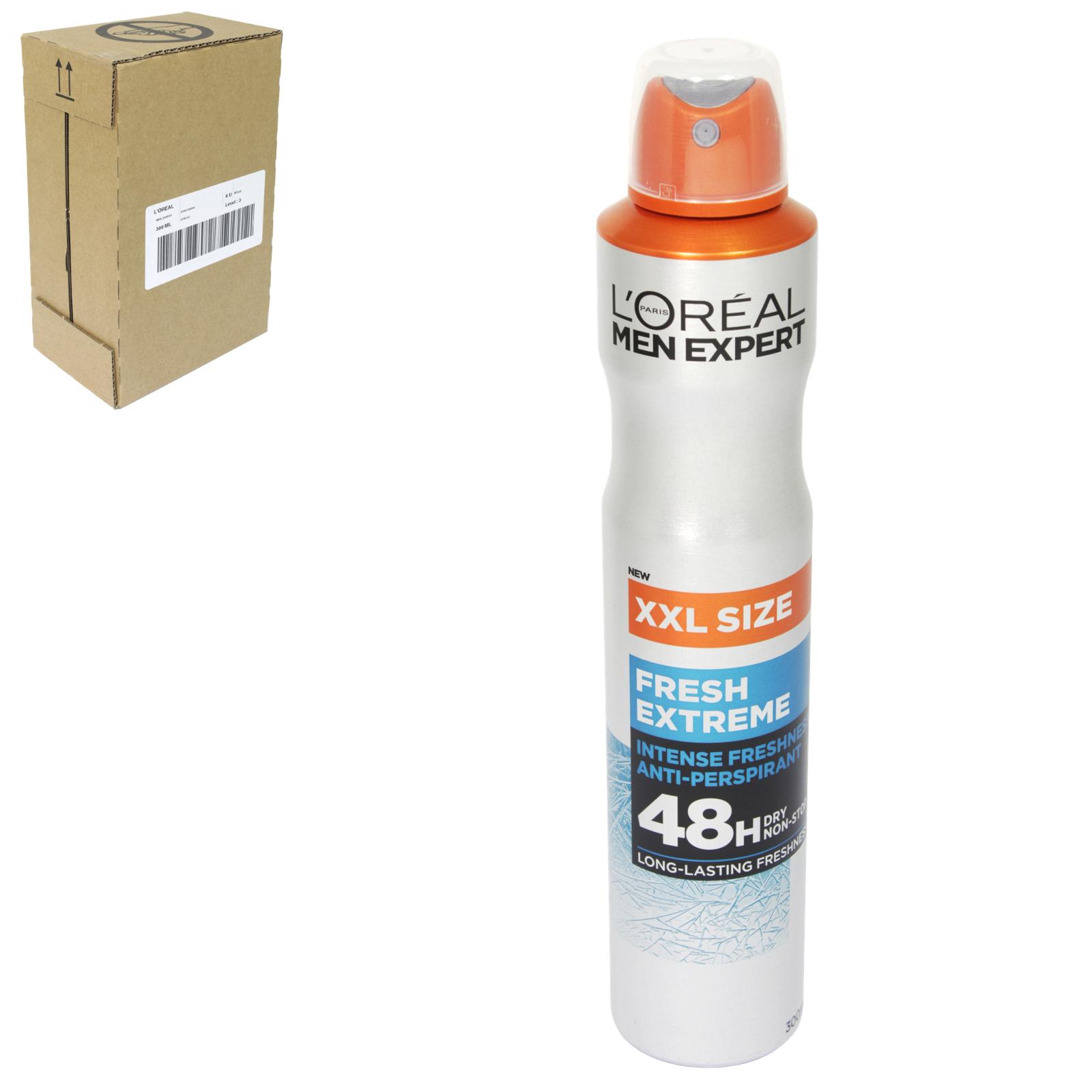 LOREAL MEN EXPERT DEO 250ML COOL POWER 48HR ANTI PERSPIRANT X6