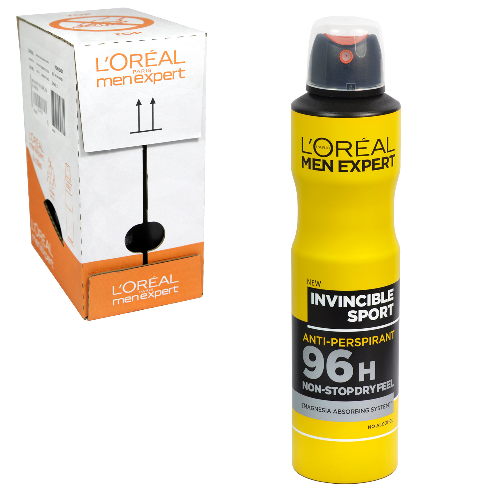 LOREAL MEN EXPERT DEO 250ML INVINCIBLE SPORT ANTI PERS 96HR NON STOP DRY FEEL X6