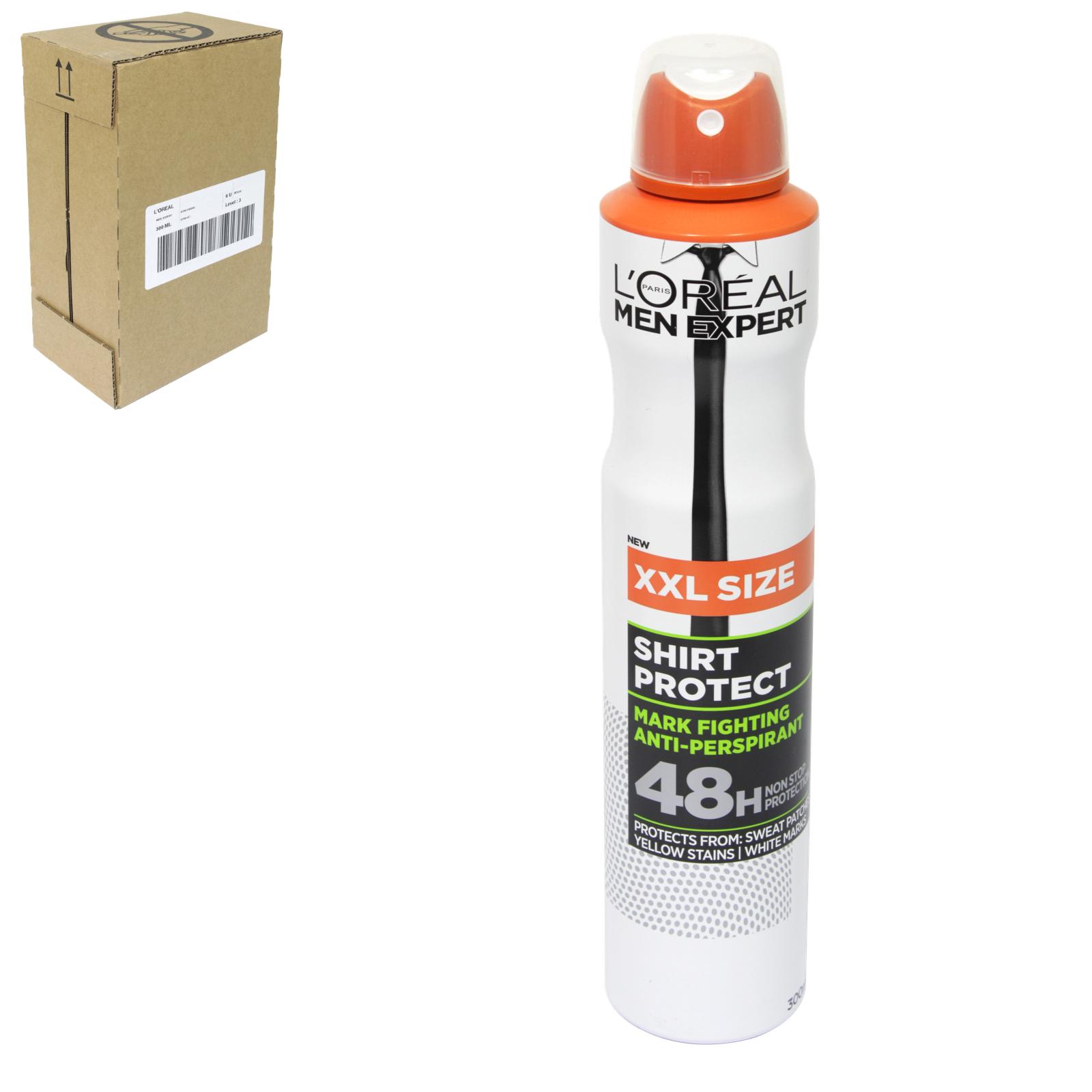 LOREAL MEN EXPERT DEO 250ML SHIRT PROTECT ANTI MARKS 100% X6
