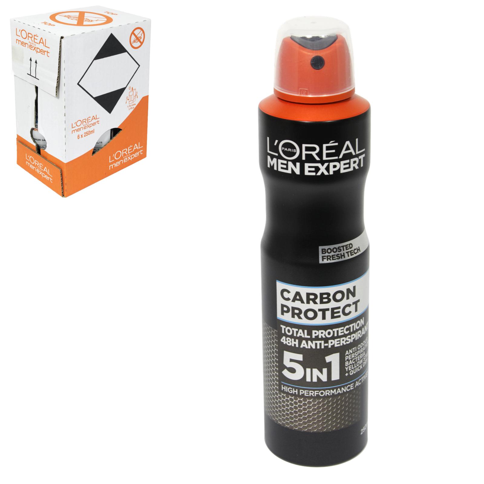 LOREAL MEN EXPERT DEO 250ML BLACK MINERAL X6