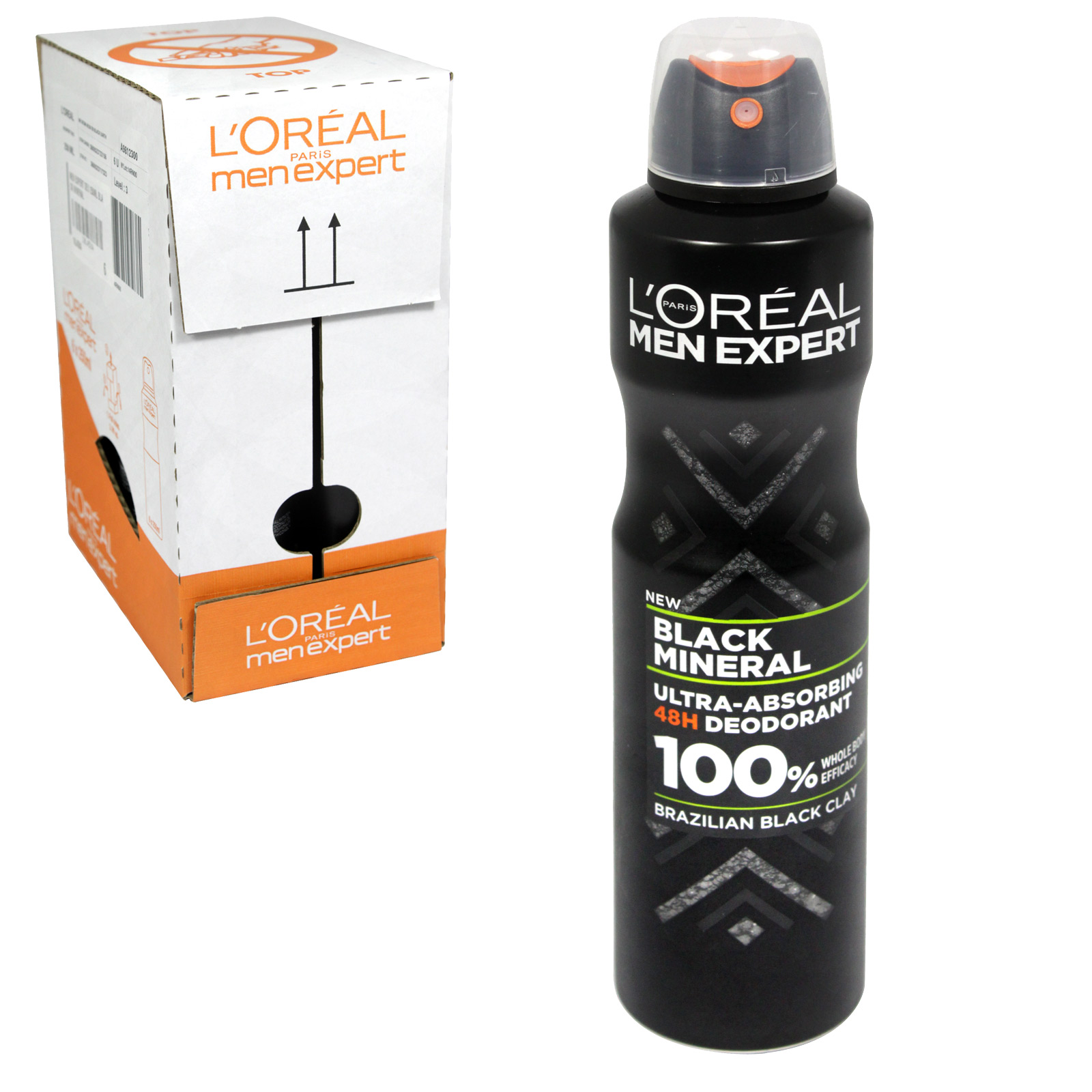 LOREAL MEN EXPERT DEO 250ML BLACK MINERAL X6