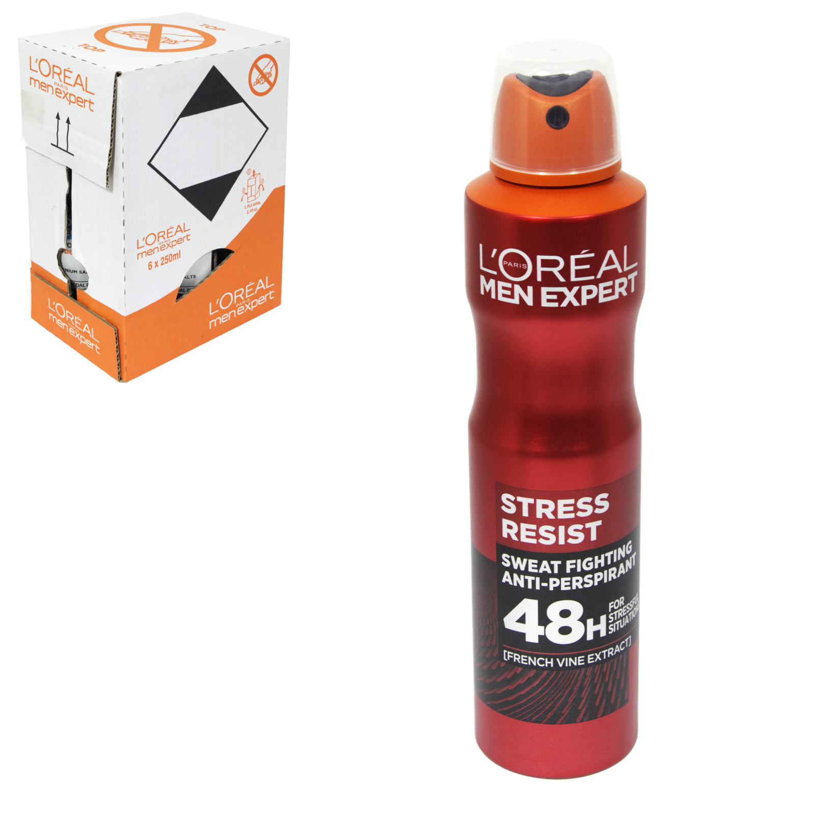 LOREAL MEN EXPERT DEO 250ML INVINCIBLE 96 HOURS NON STOP EXTREME PROTECTION X6