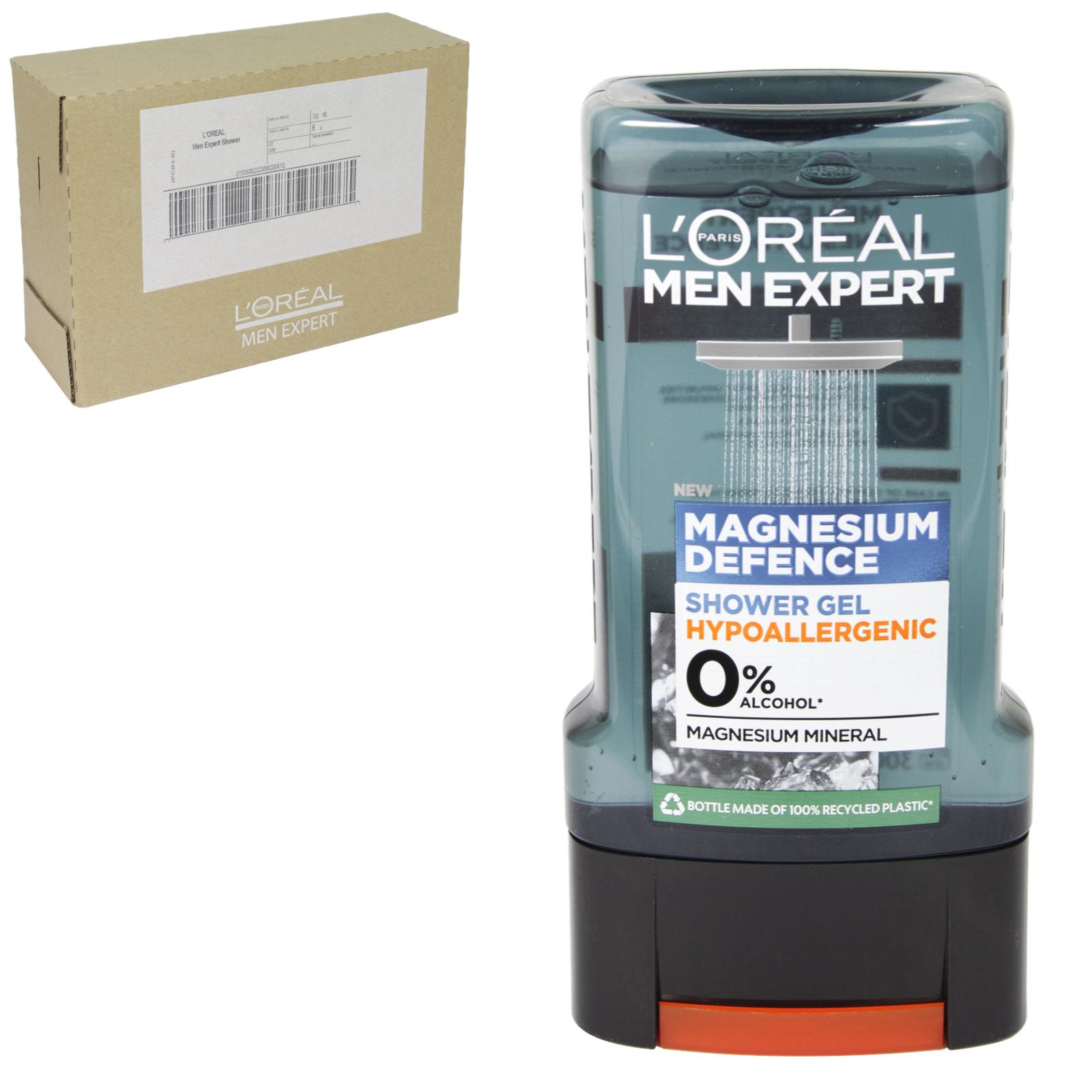 LOREAL MEN EXPERT SHOWER 300ML CLEAN POWER X6