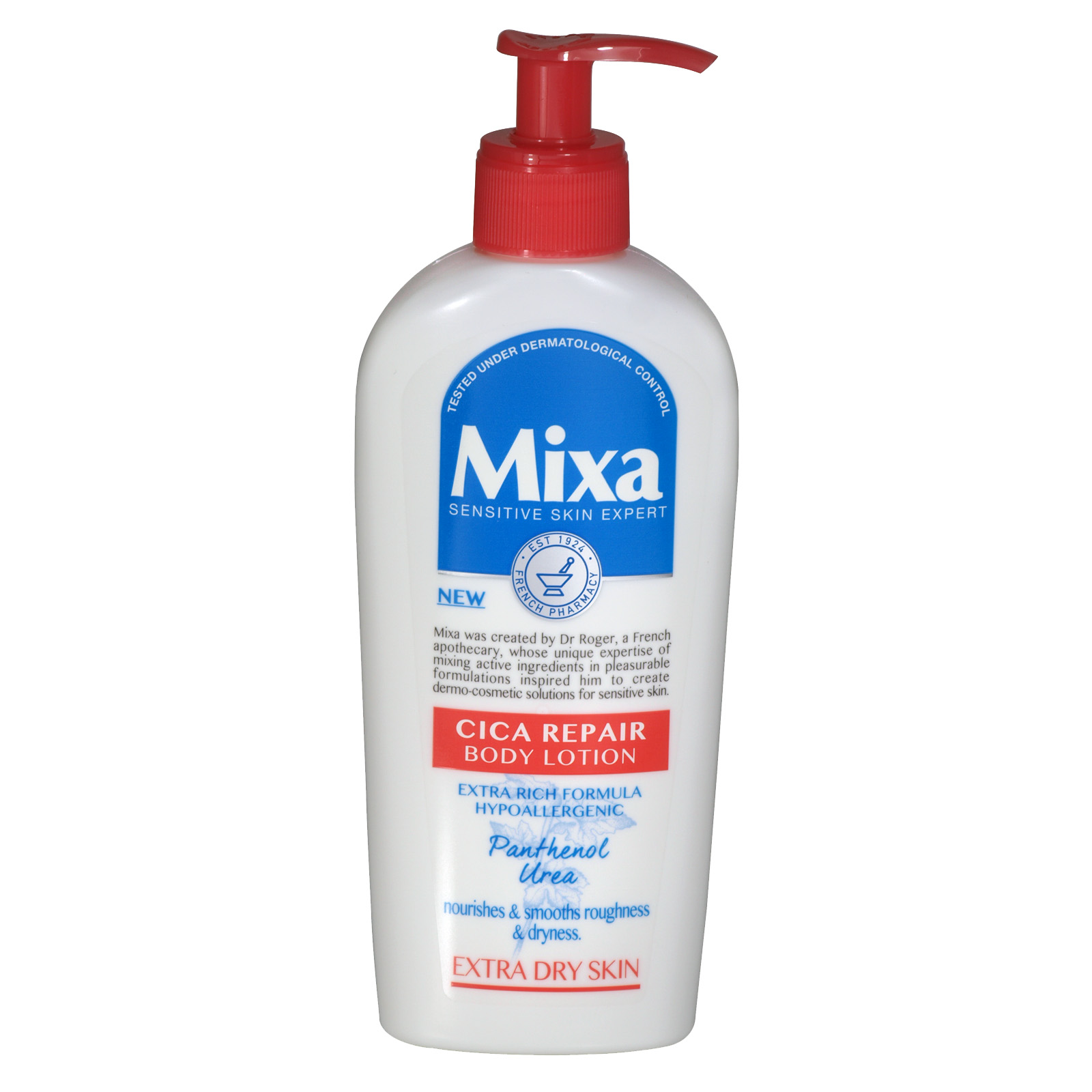 MIXA BODY LOTION 250ML CICA REPAIR EXTRA DRY SKIN X6