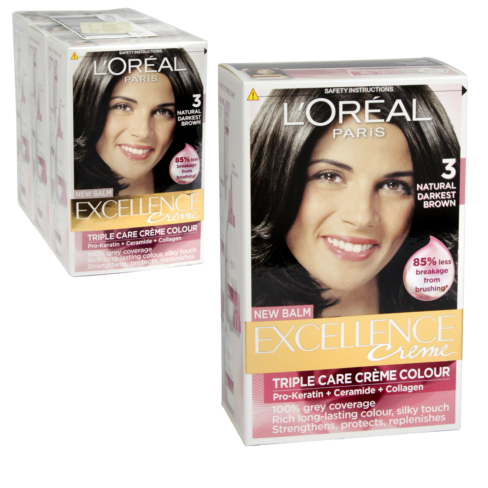 EXCELLENCE HAIR COLOUR NATURAL DARKEST BROWN 3 [H03] X3
