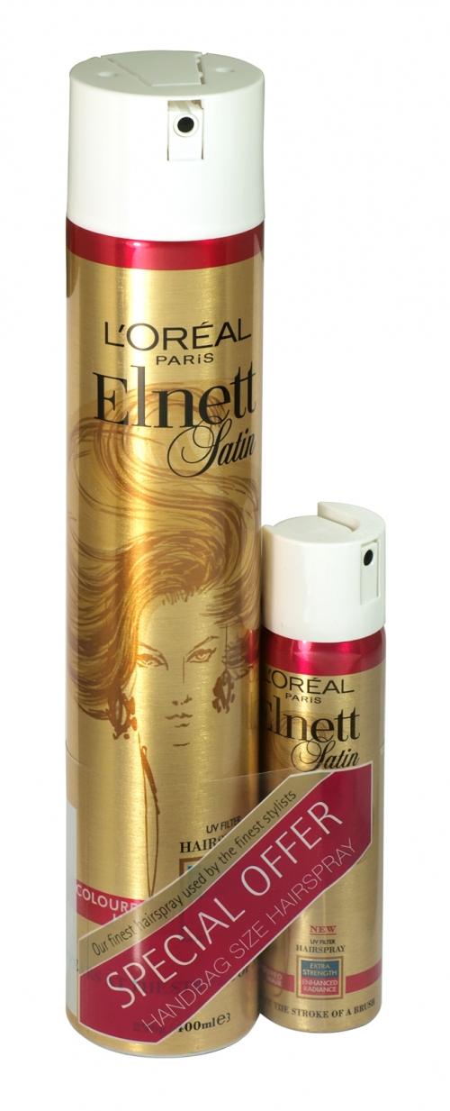LOREAL ELNETT HAIRSPRAY 400ML+75ML UV FILTER X6