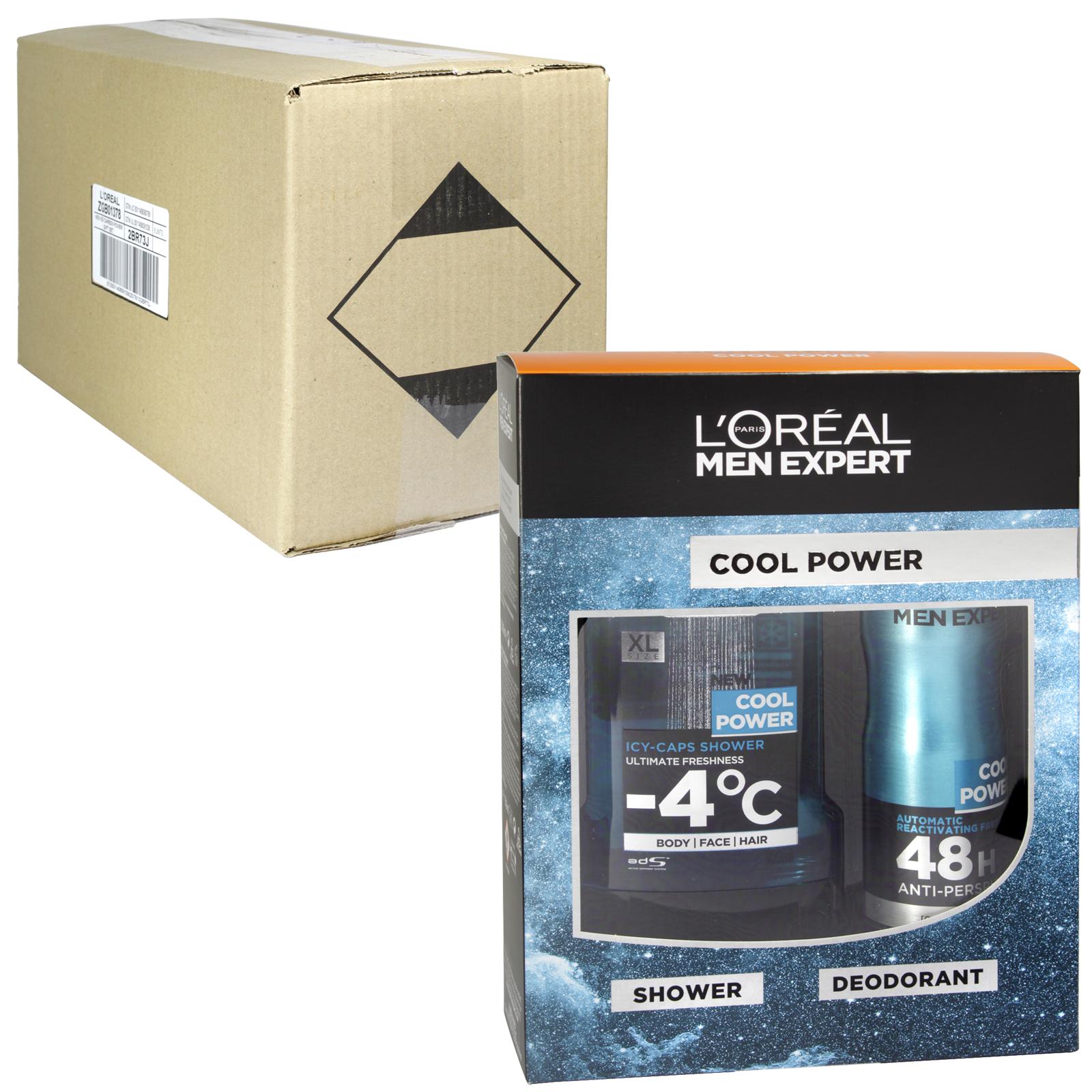 LOREAL MEN EXPERT 300ML SHOWER GEL+150ML DEOD COOL POWER X6