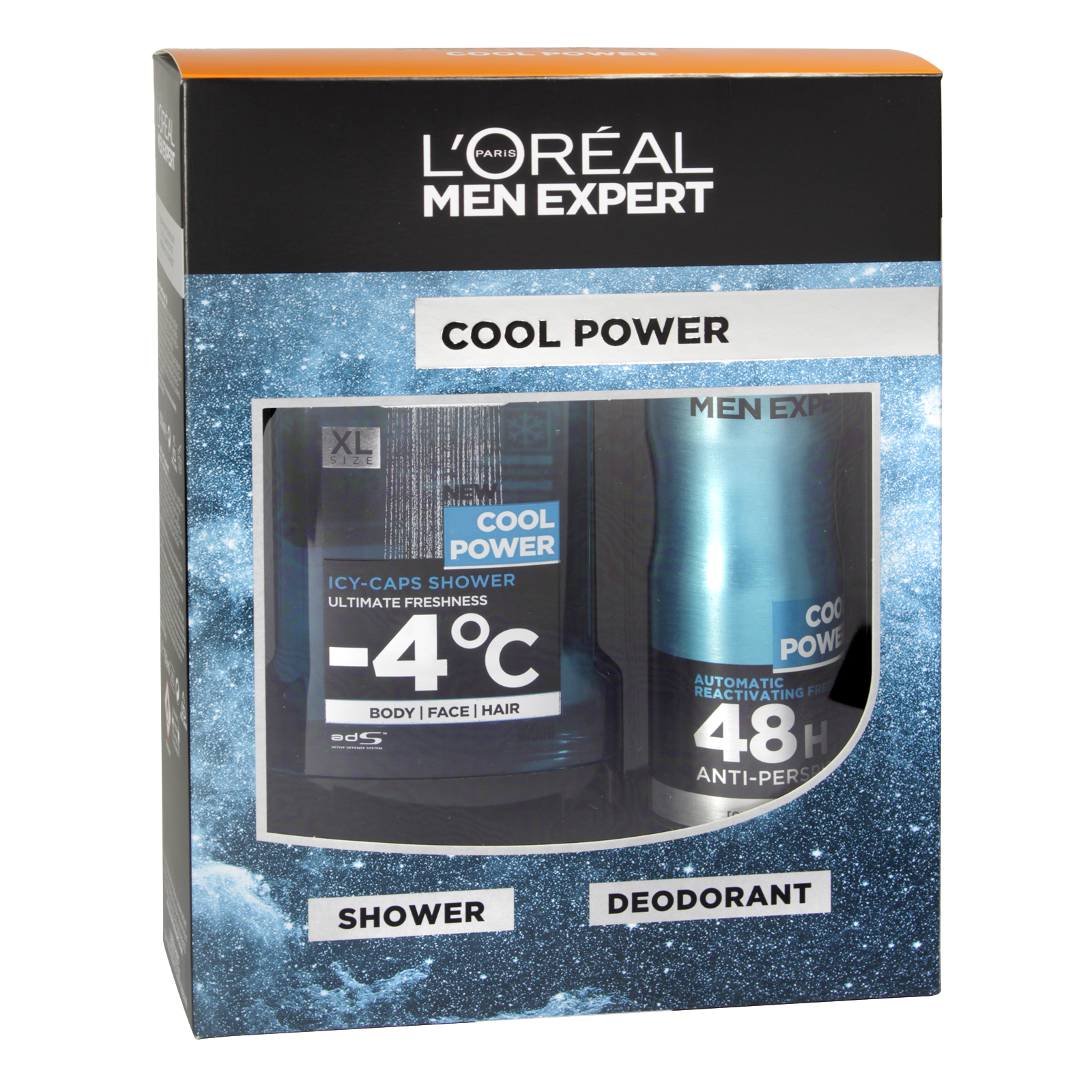 LOREAL MEN EXPERT 300ML SHOWER GEL+150ML DEOD COOL POWER