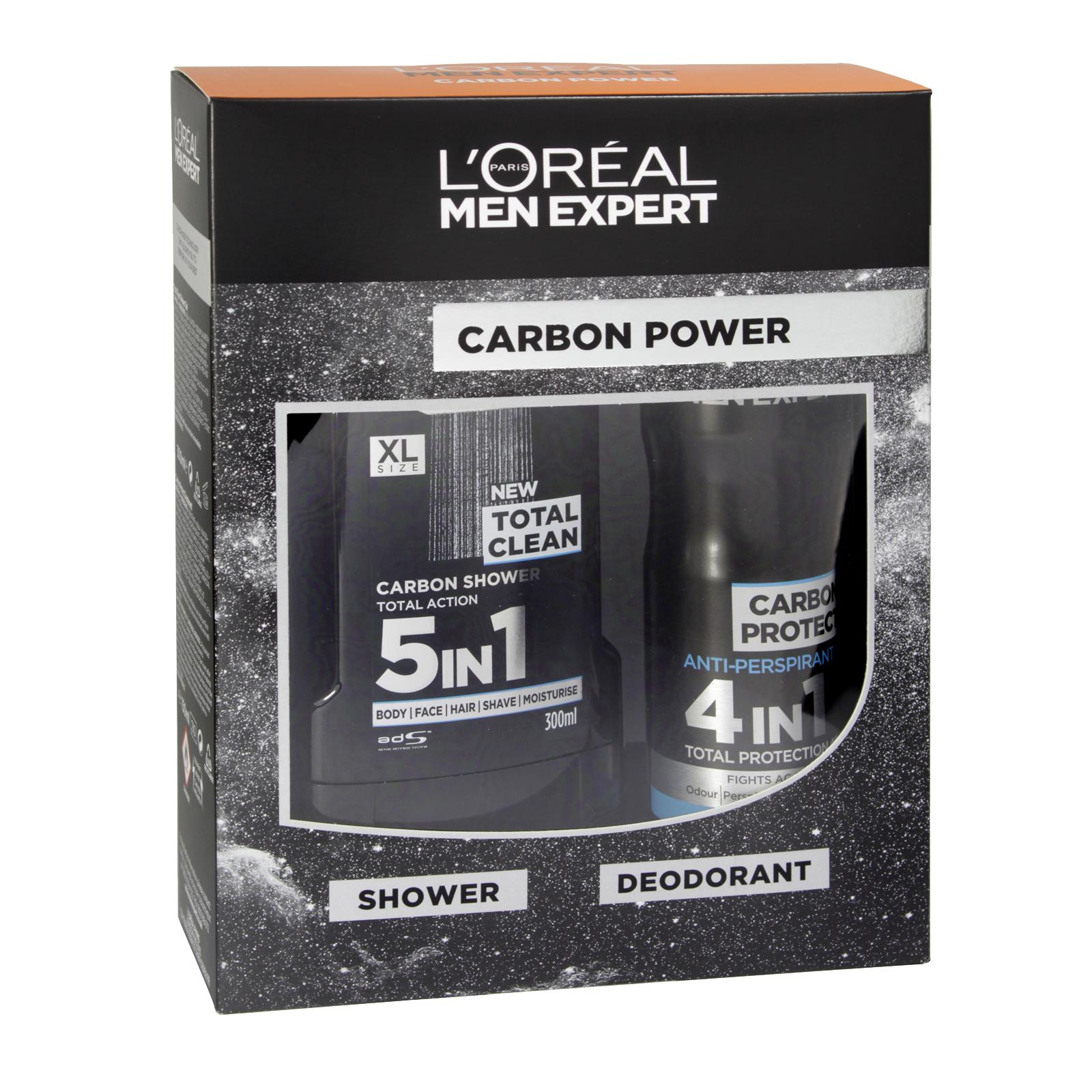 LOREAL MEN EXPERT 300ML SHOWER GEL+150ML DEOD CARBON POWER