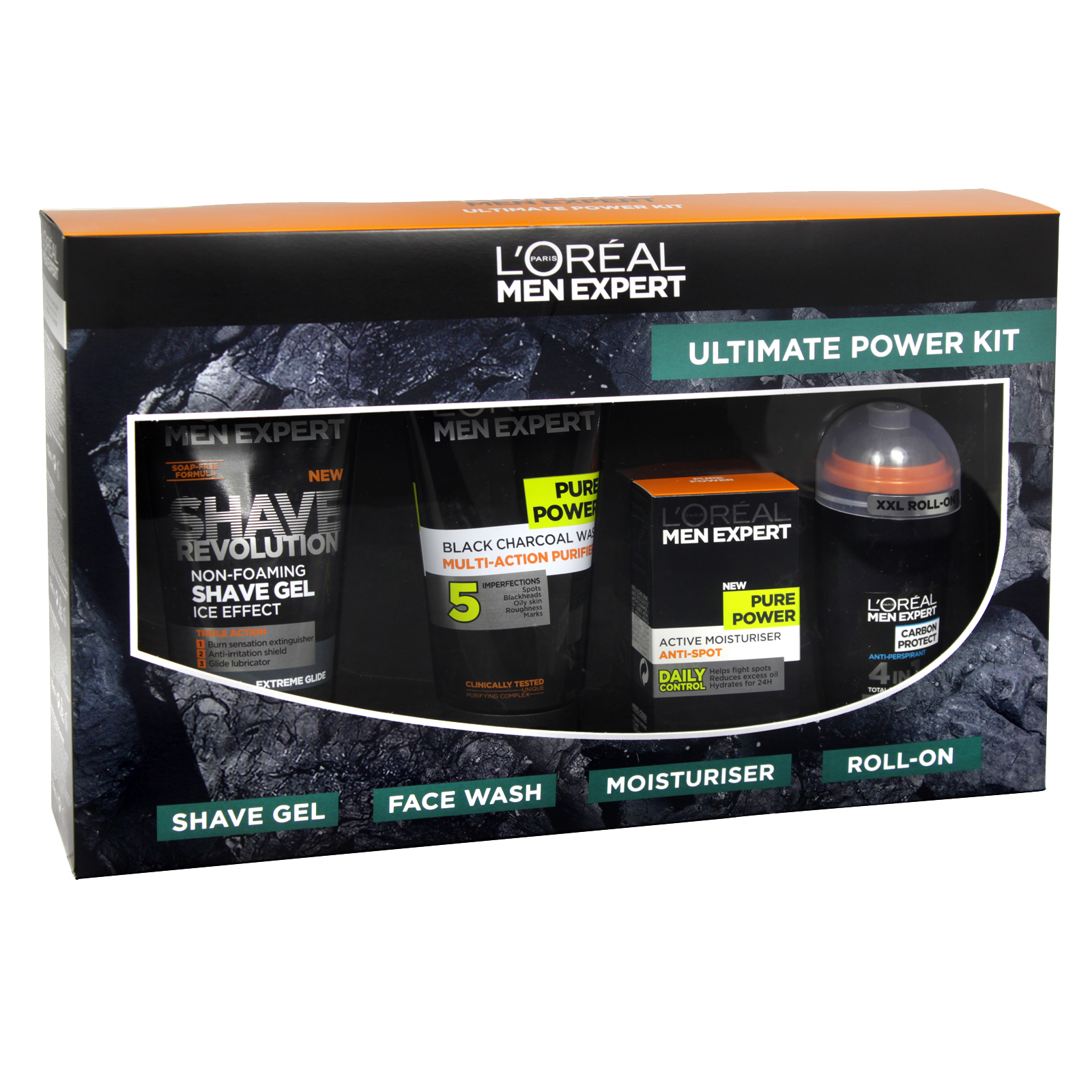 LOREAL MEN EXPERT ULTIMATE 50ML MOIST+50ML ROLL-ON+150ML F/WASH+150ML SHAVE GEL