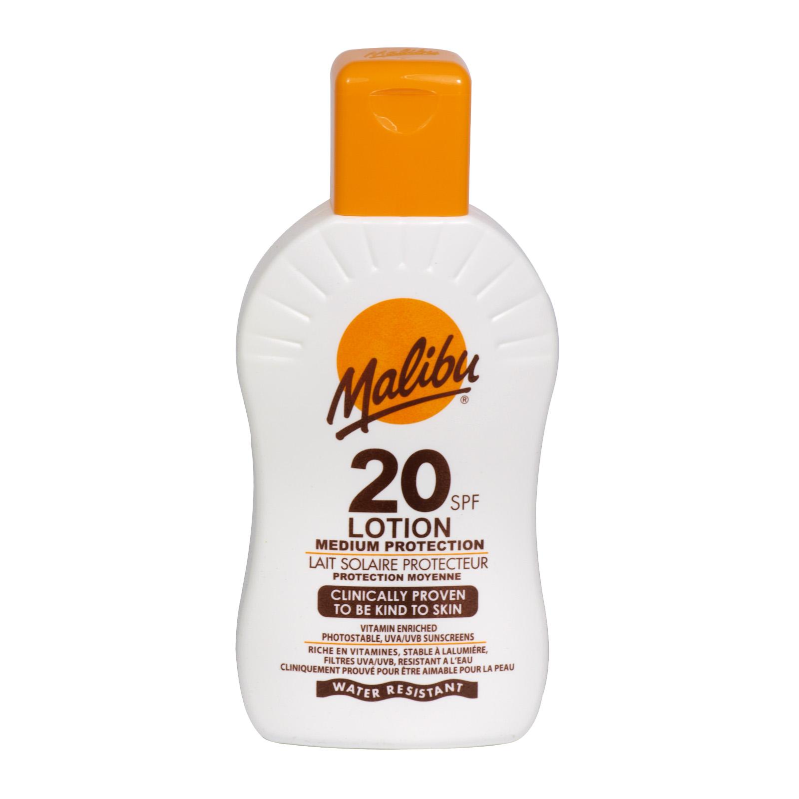 MALIBU SUN LOTION 200ML SPF20 X6