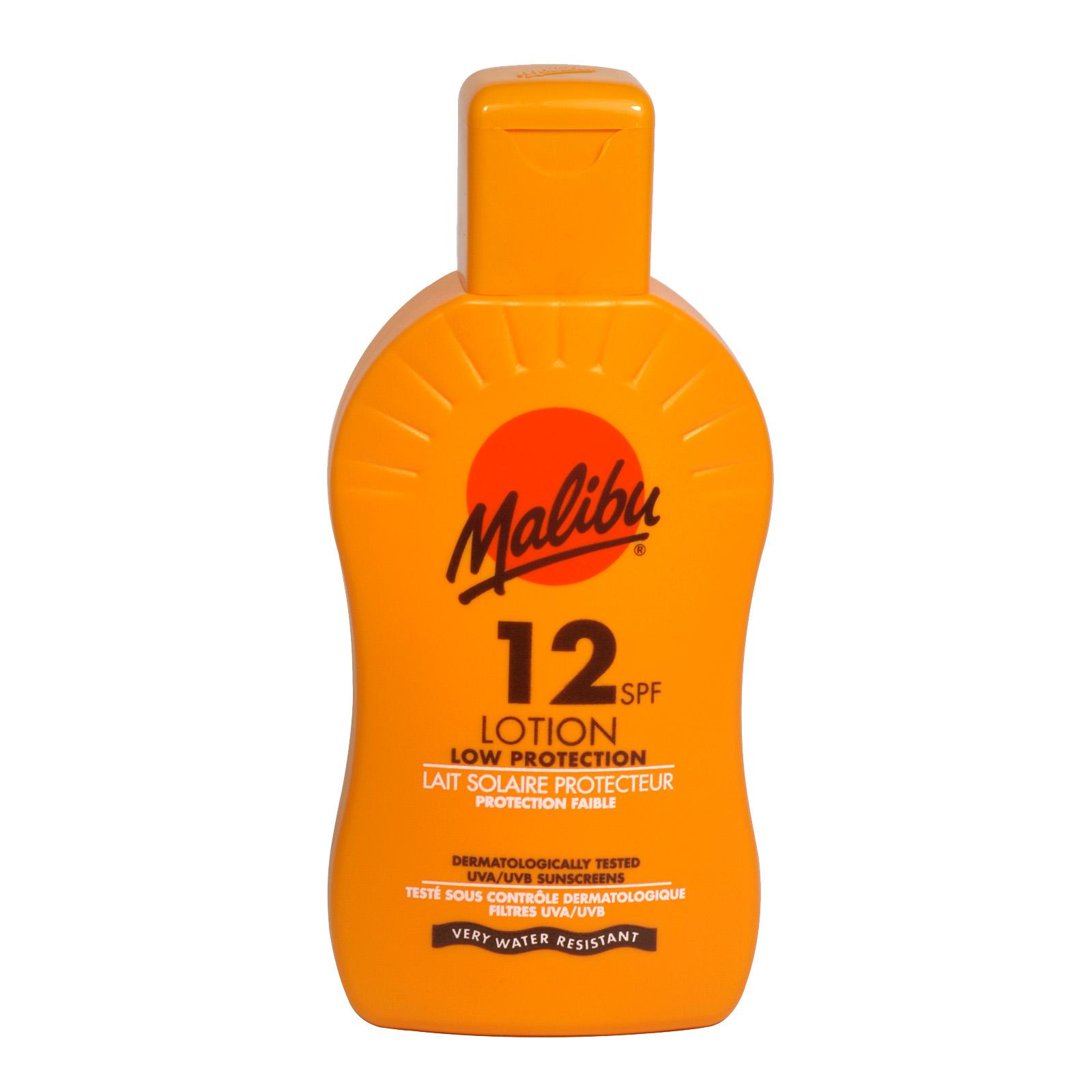 MALIBU SUN LOTION 200ML SPF12 X6