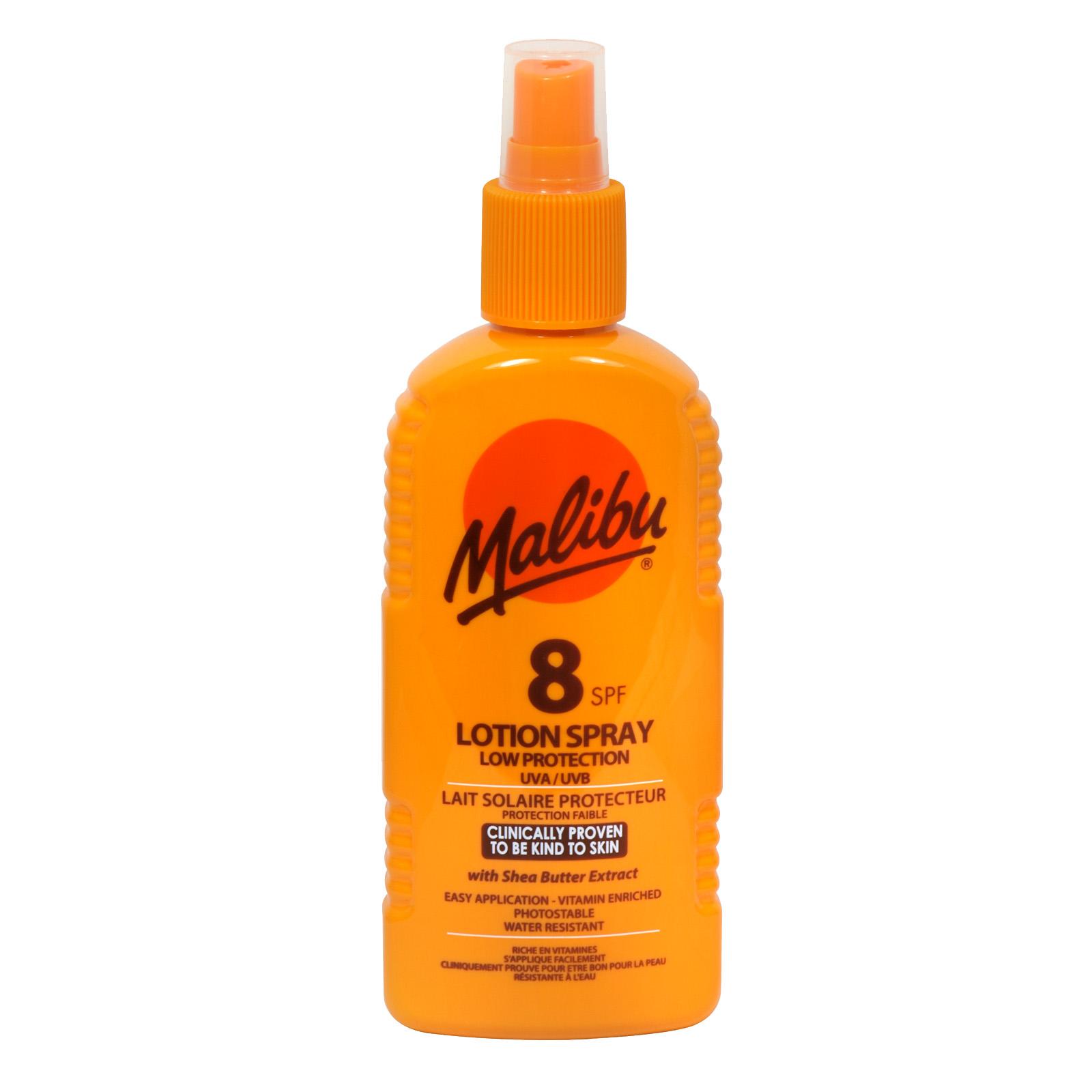 MALIBU LOTION SPRAY 200ML SPF8 X6