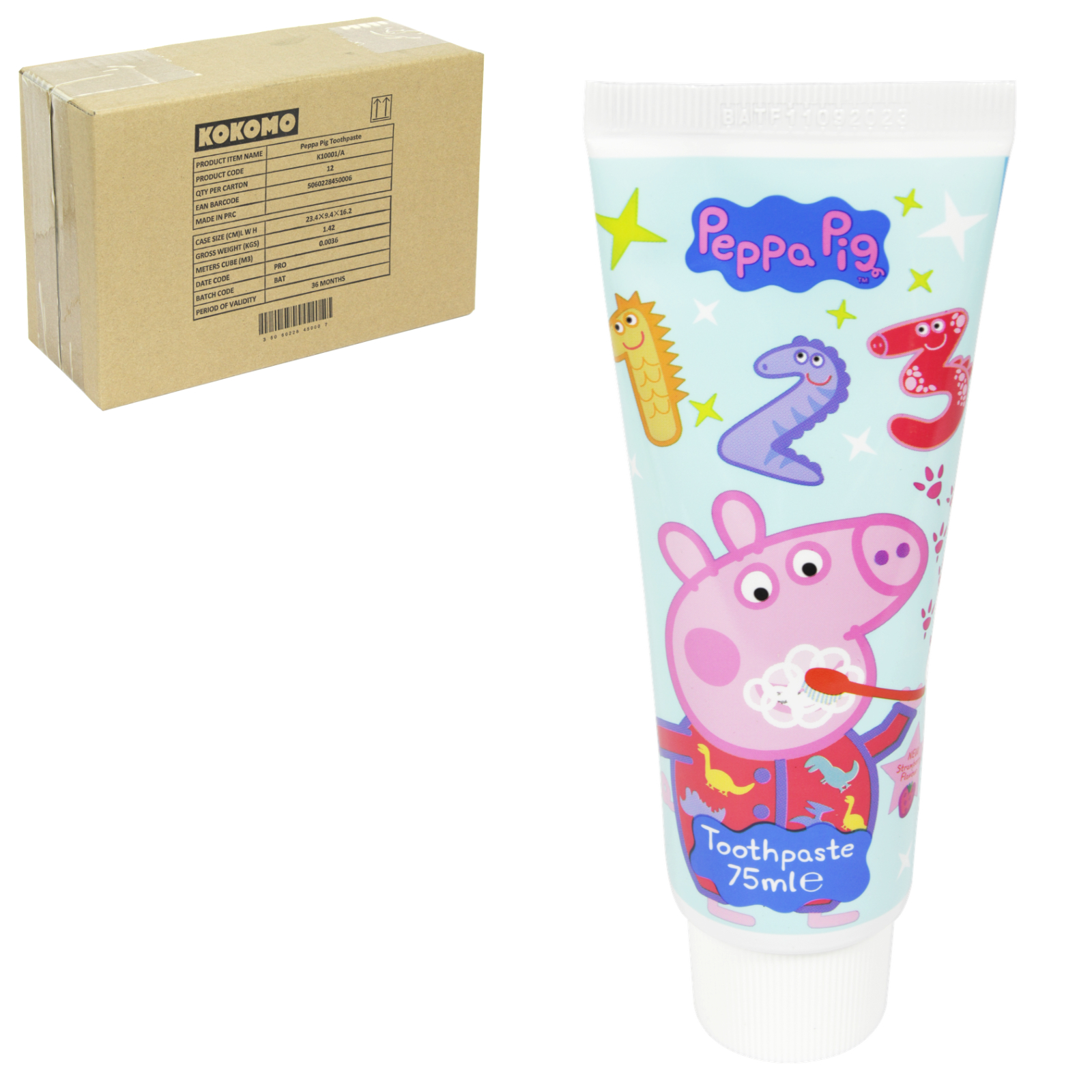 PEPPA PIG TOOTHPASTE 75ML MILD MINT X12