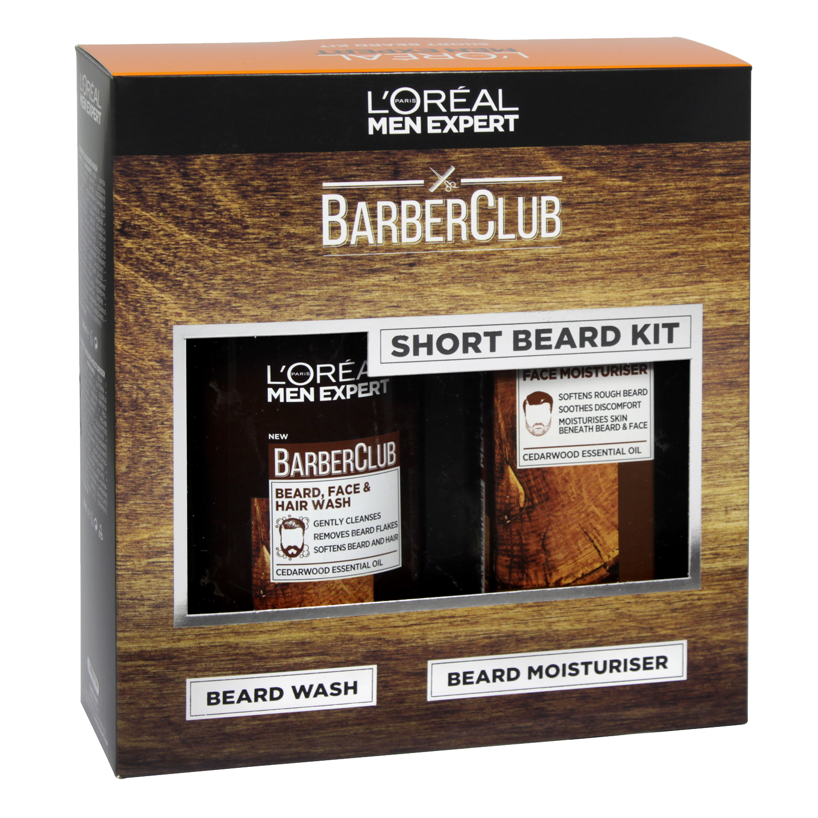LOREAL MEN EXPERT BARBER CLUB SHORT BEARD KIT 200ML BEARD WASH+BEARD MOISTURISER