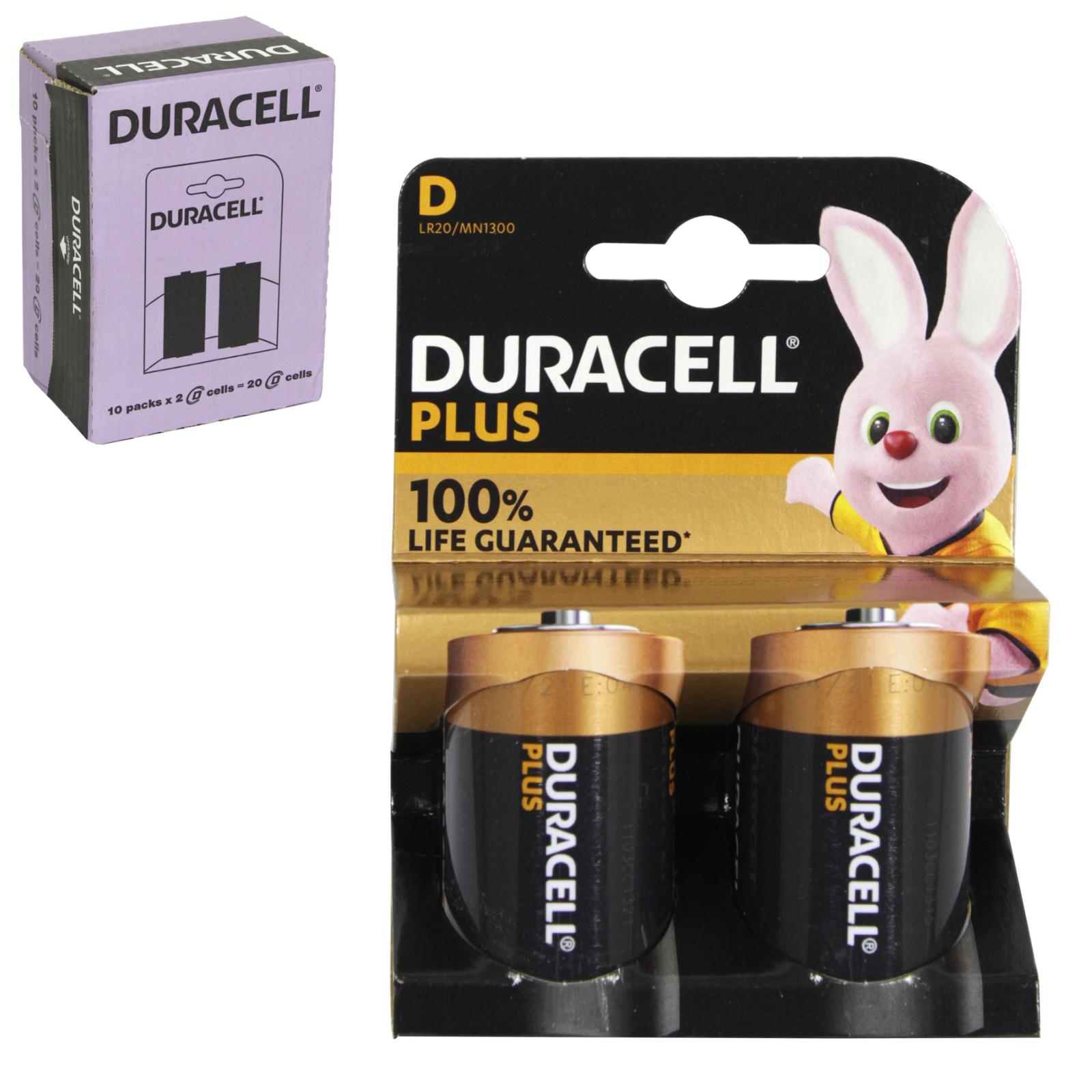 DURACELL BATTERIES PLUS POWER 2PK SIZE D X10