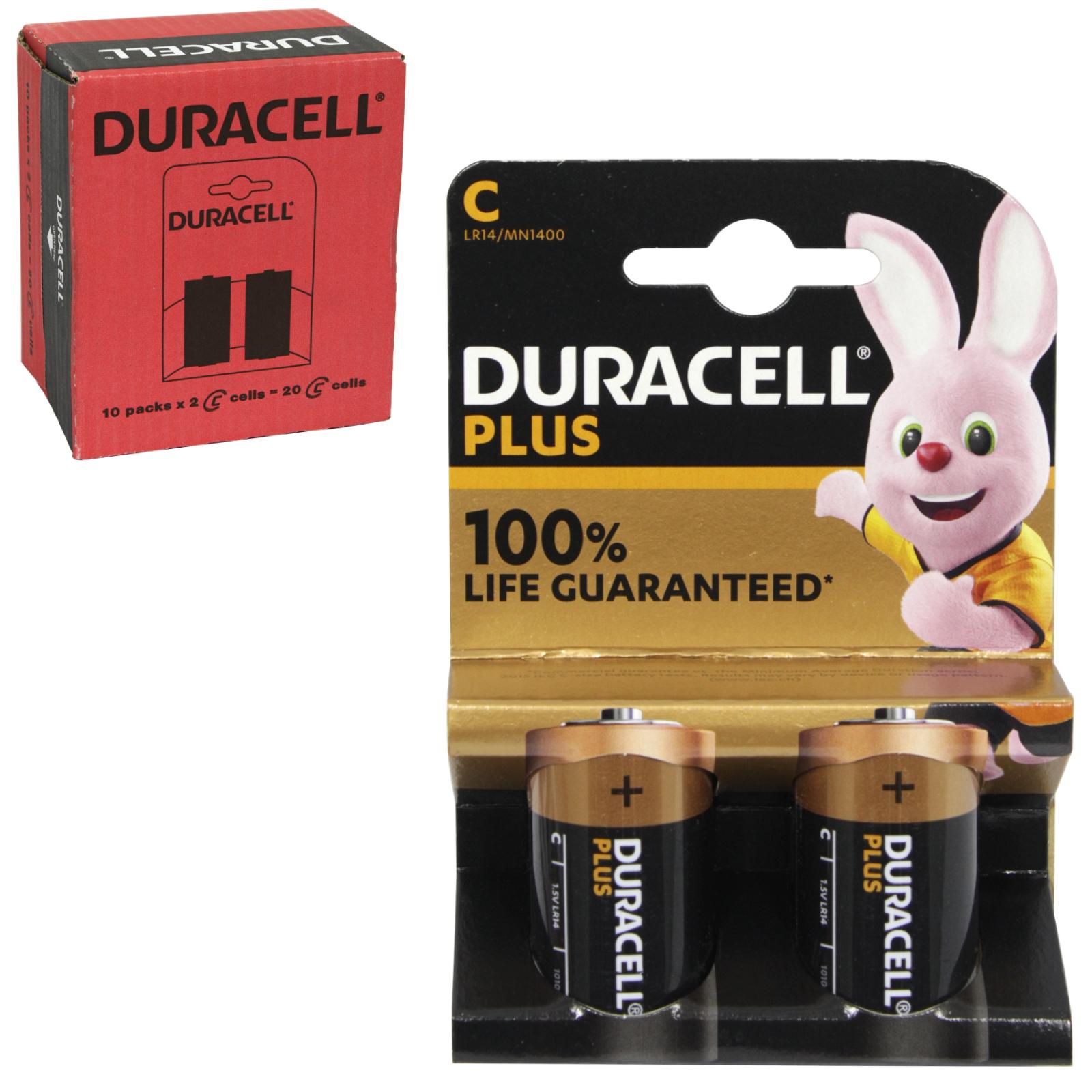 DURACELL BATTERIES BASIC 2PK SIZE C X10