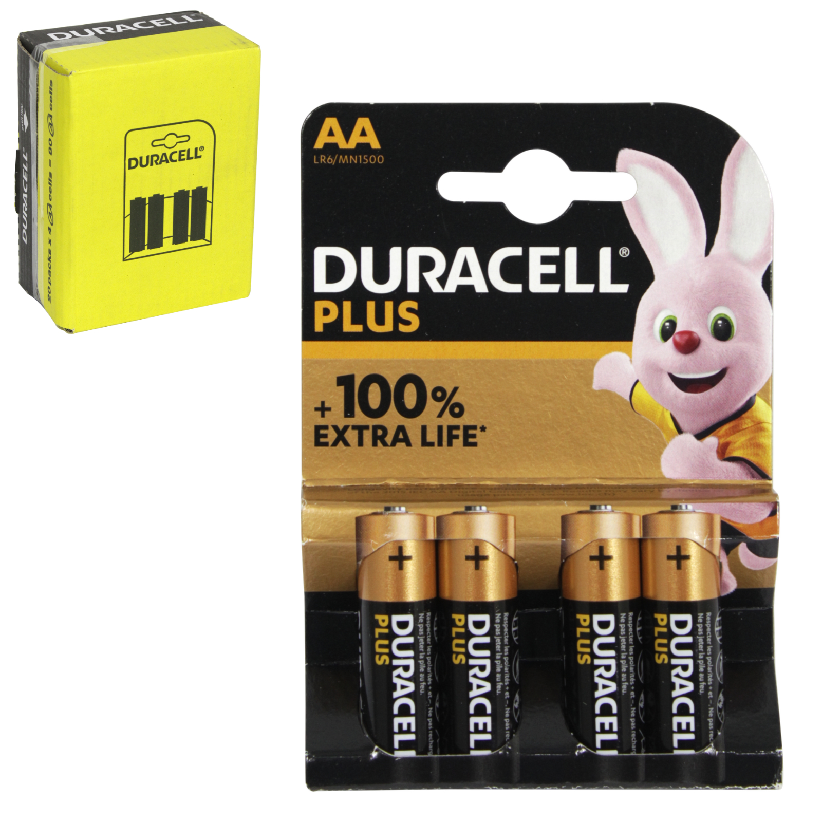 DURACELL BATTERIES SIMPLY 4PK AA X20