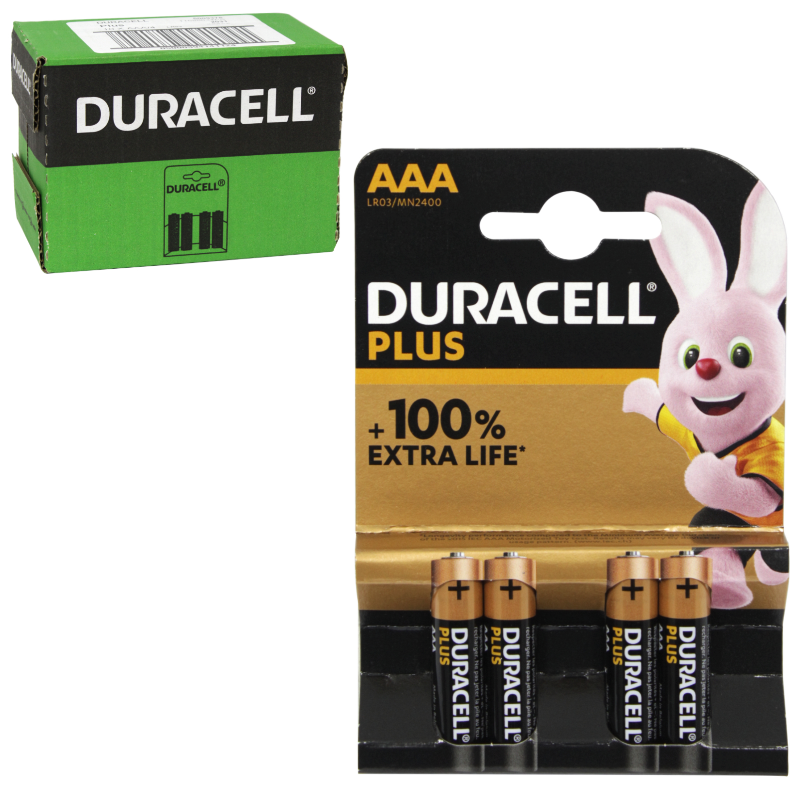 DURACELL BATTERIES SIMPLY 4PK AAA X10