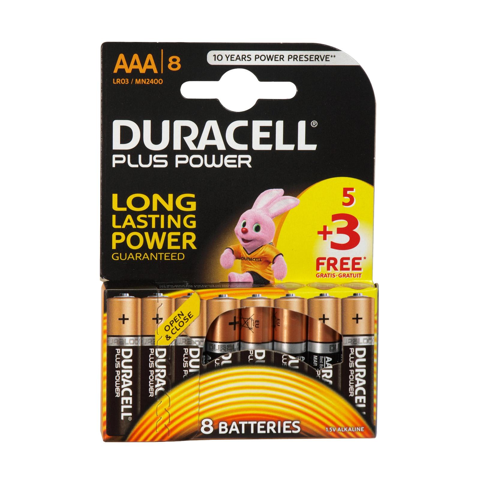 DURACELL PLUS POWER 5+3 FOC AAA