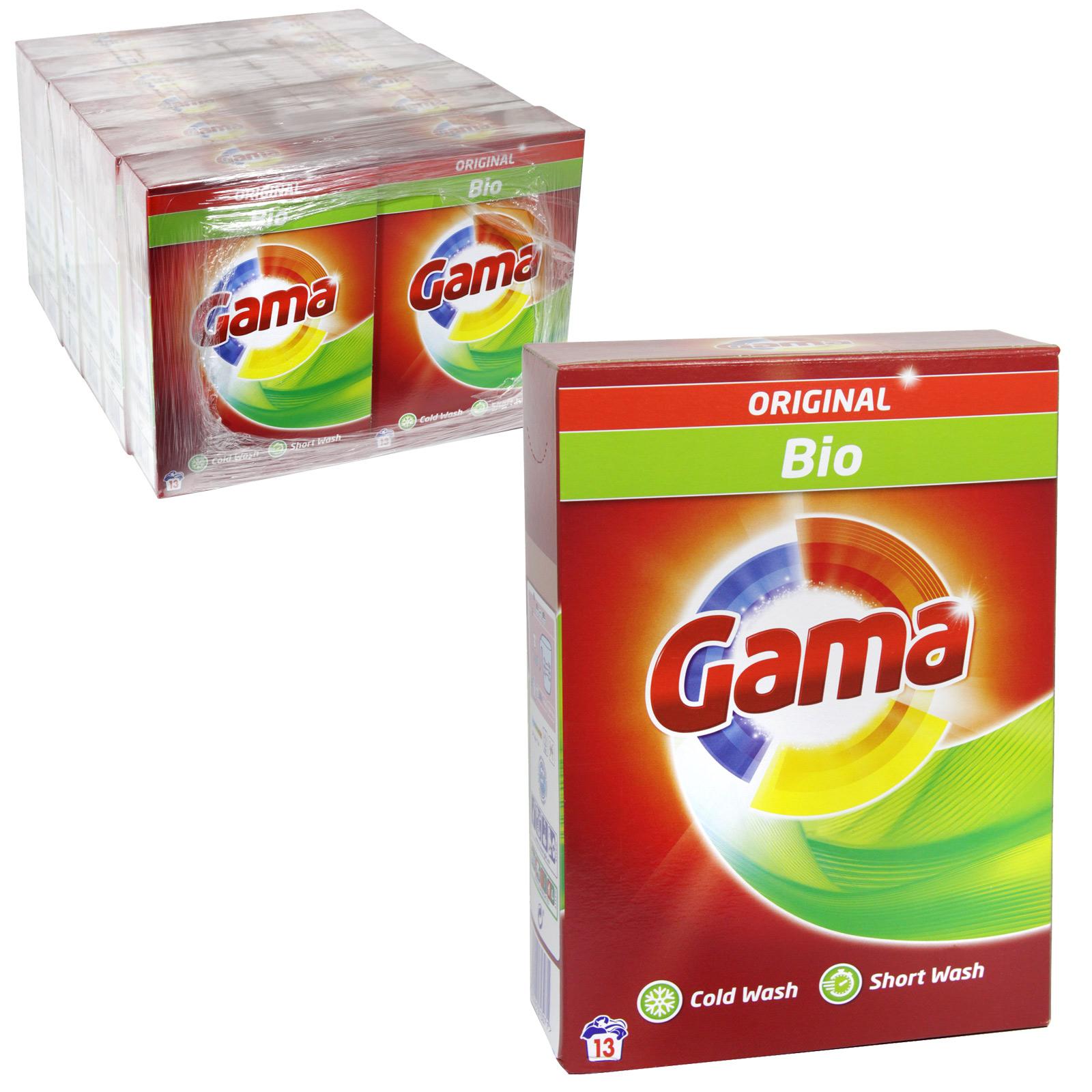 GAMA 13 WASH LAUNDRY POWDER 845GM BIO X12