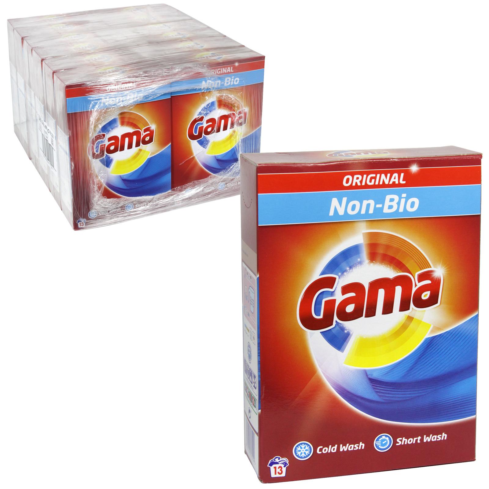 GAMA 13 WASH LAUNDRY POWDER 845GM NON-BIO X12