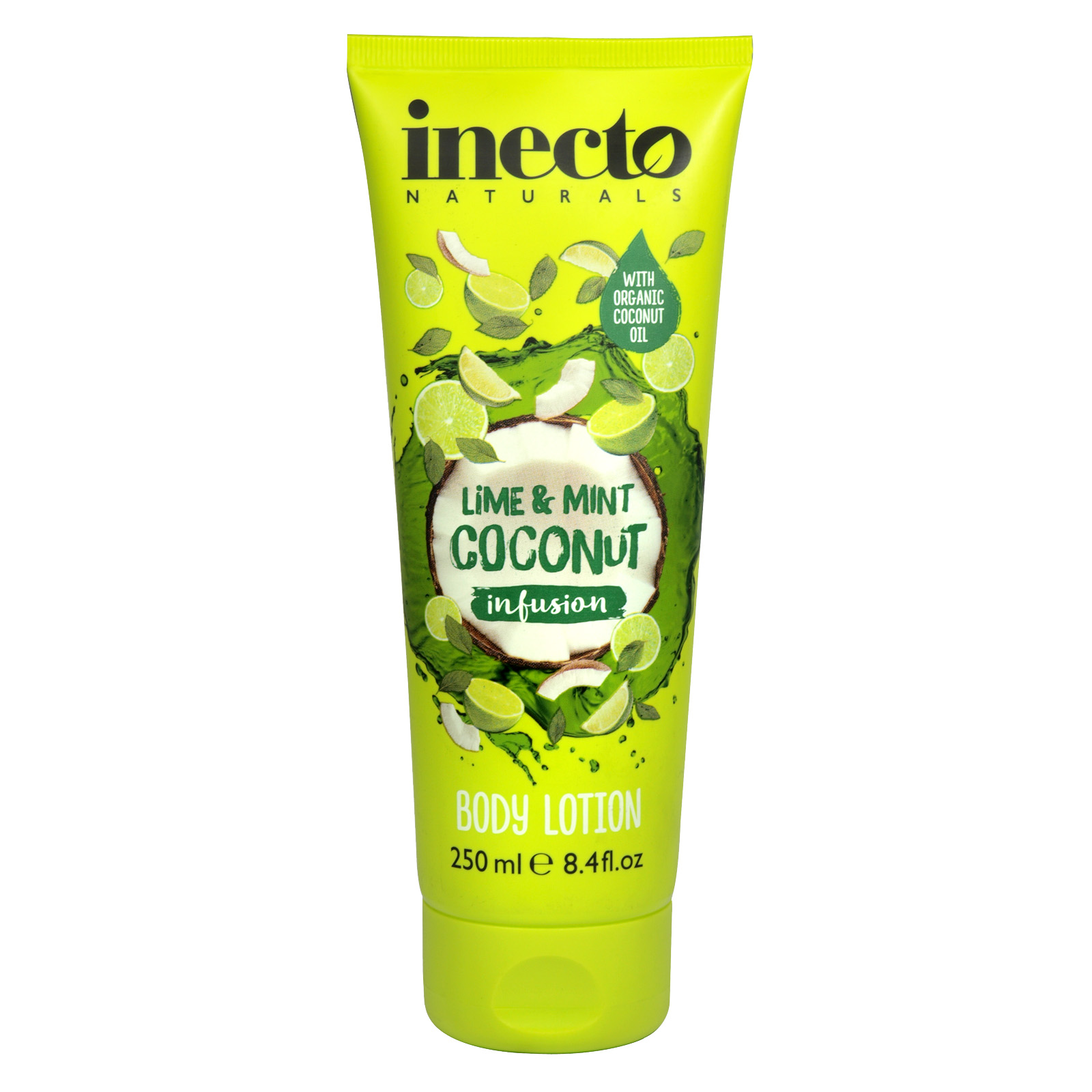 INECTO NATURALS 250ML BODY LOTION LIME+MINT+COCONUT INFUSION X6