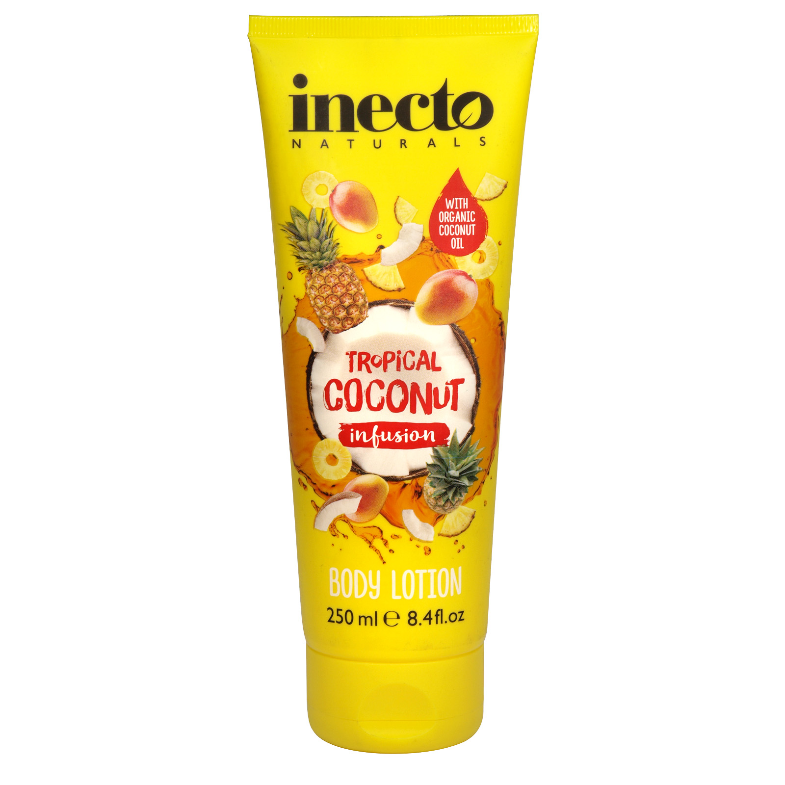 INECTO NATURALS 250ML BODY LOTION TROPICAL COCONUT INFUSION X6