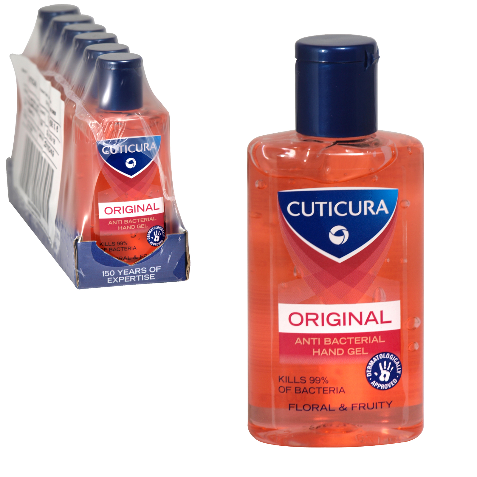 CUTICURA ANTI-BAC HAND GEL 100ML PINK FLORAL+FRUITY X6